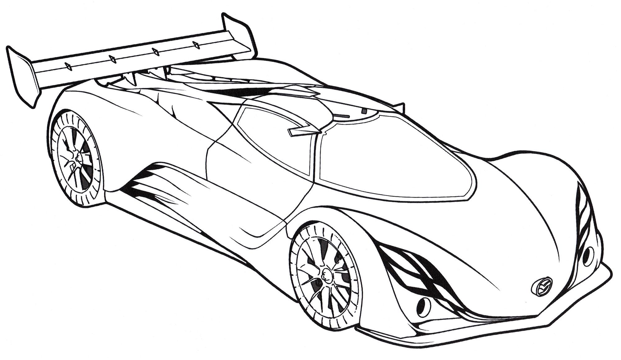 Раскраска Mazda Furai Concept - распечатать бесплатно