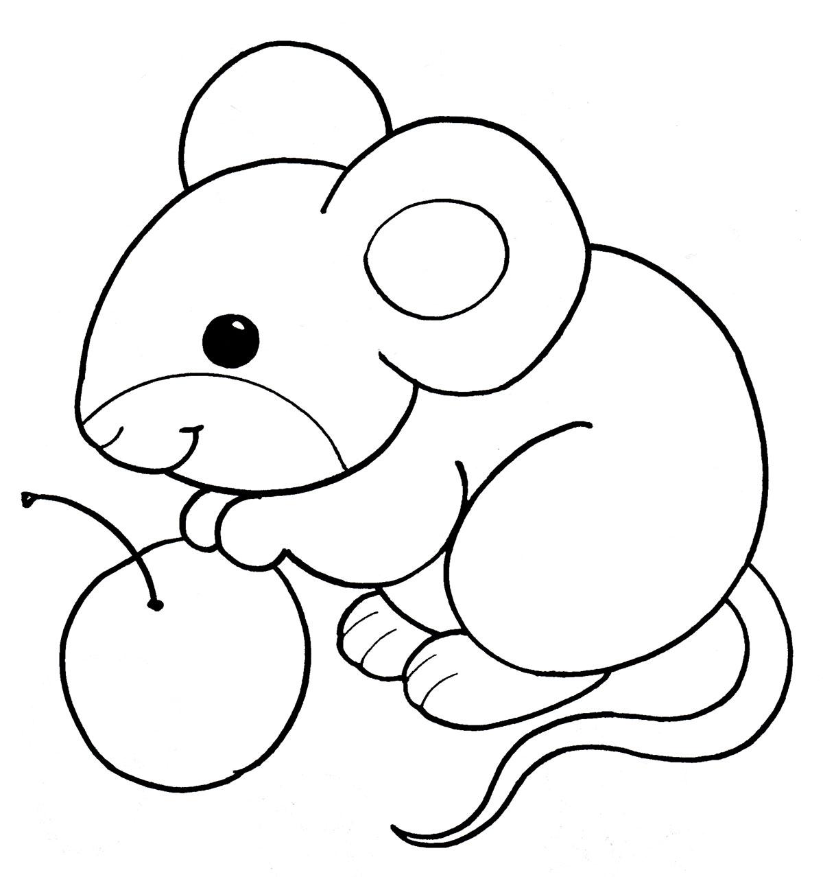 Контурные рисунок мышки