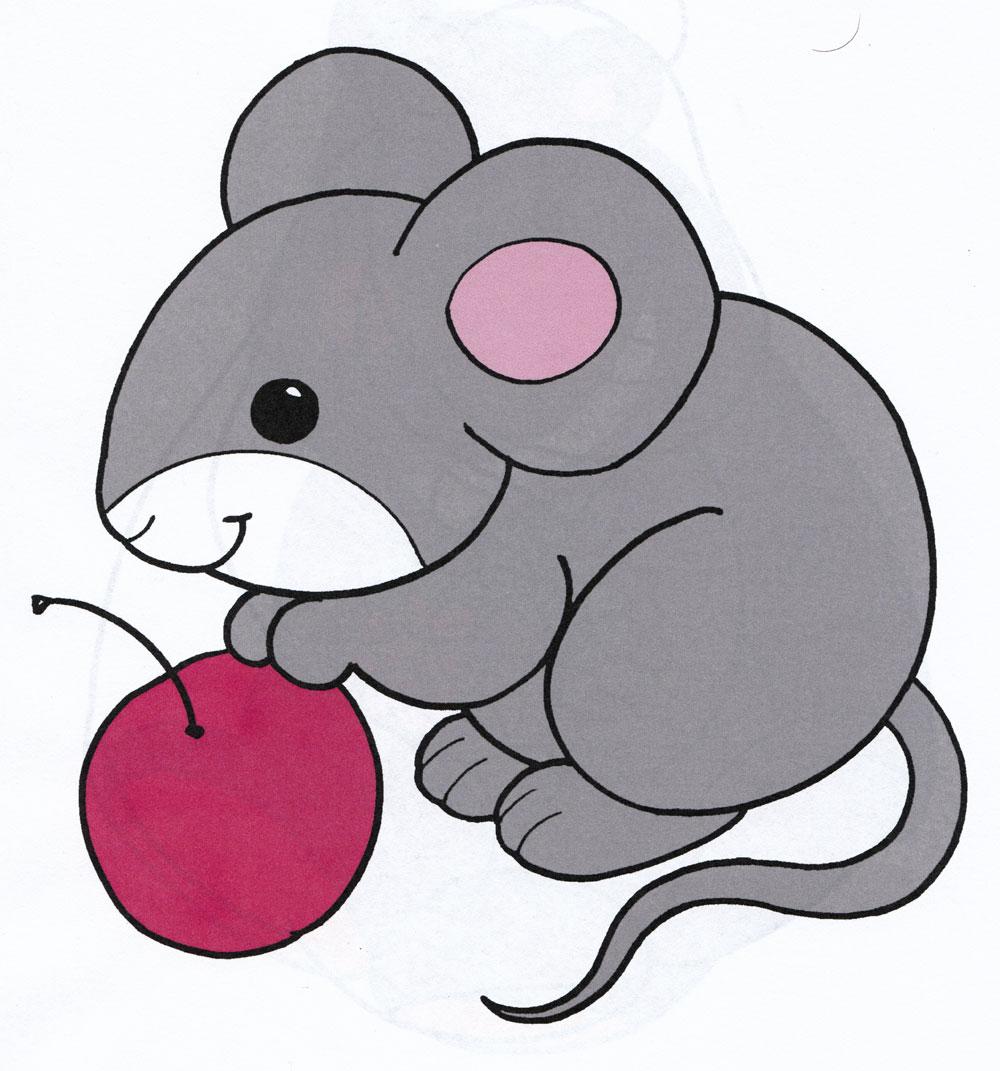 Раскраска Мышка - распечатать бесплатно