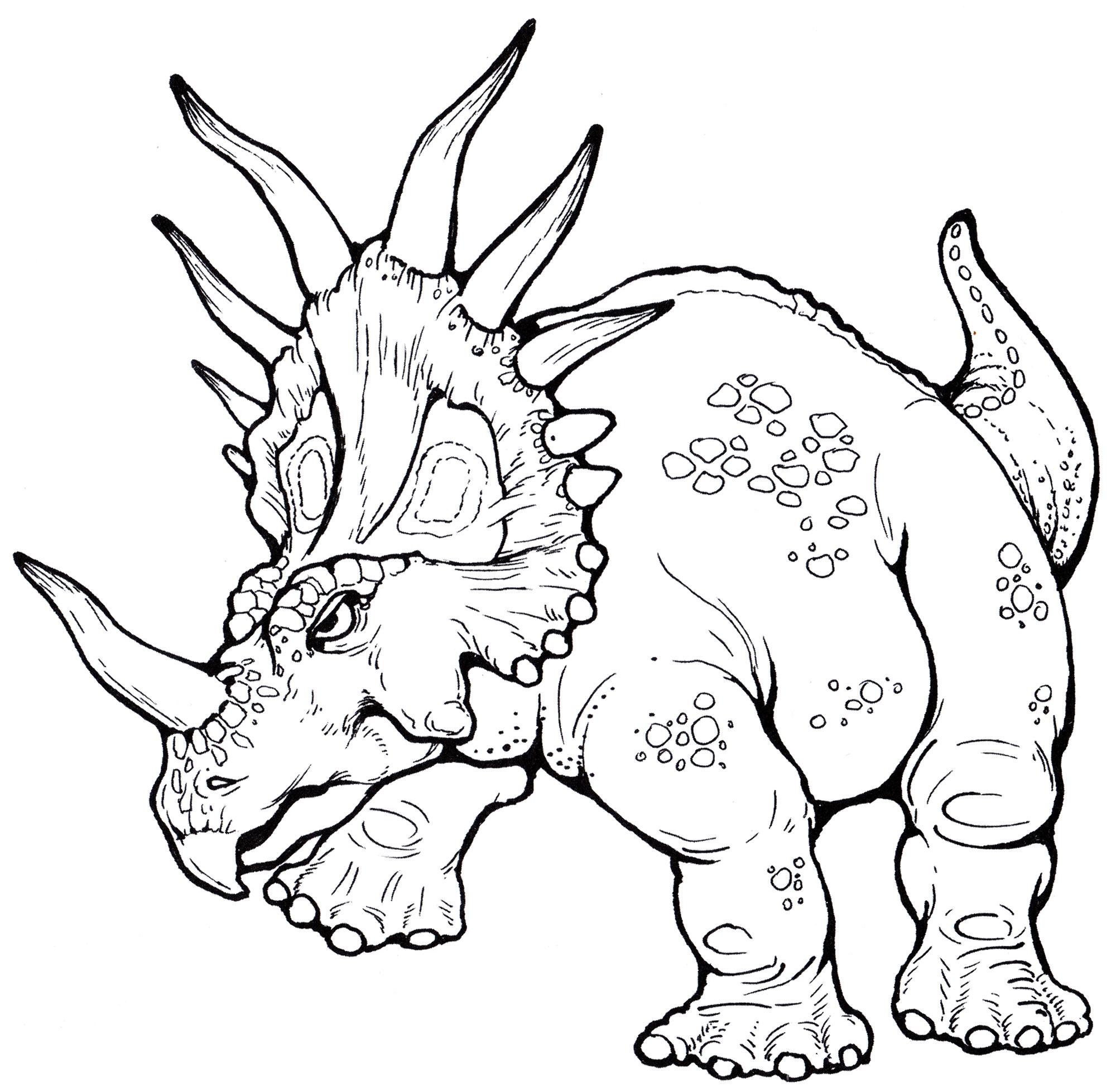 Раскраска Стиракозавр   Раскраски динозавры