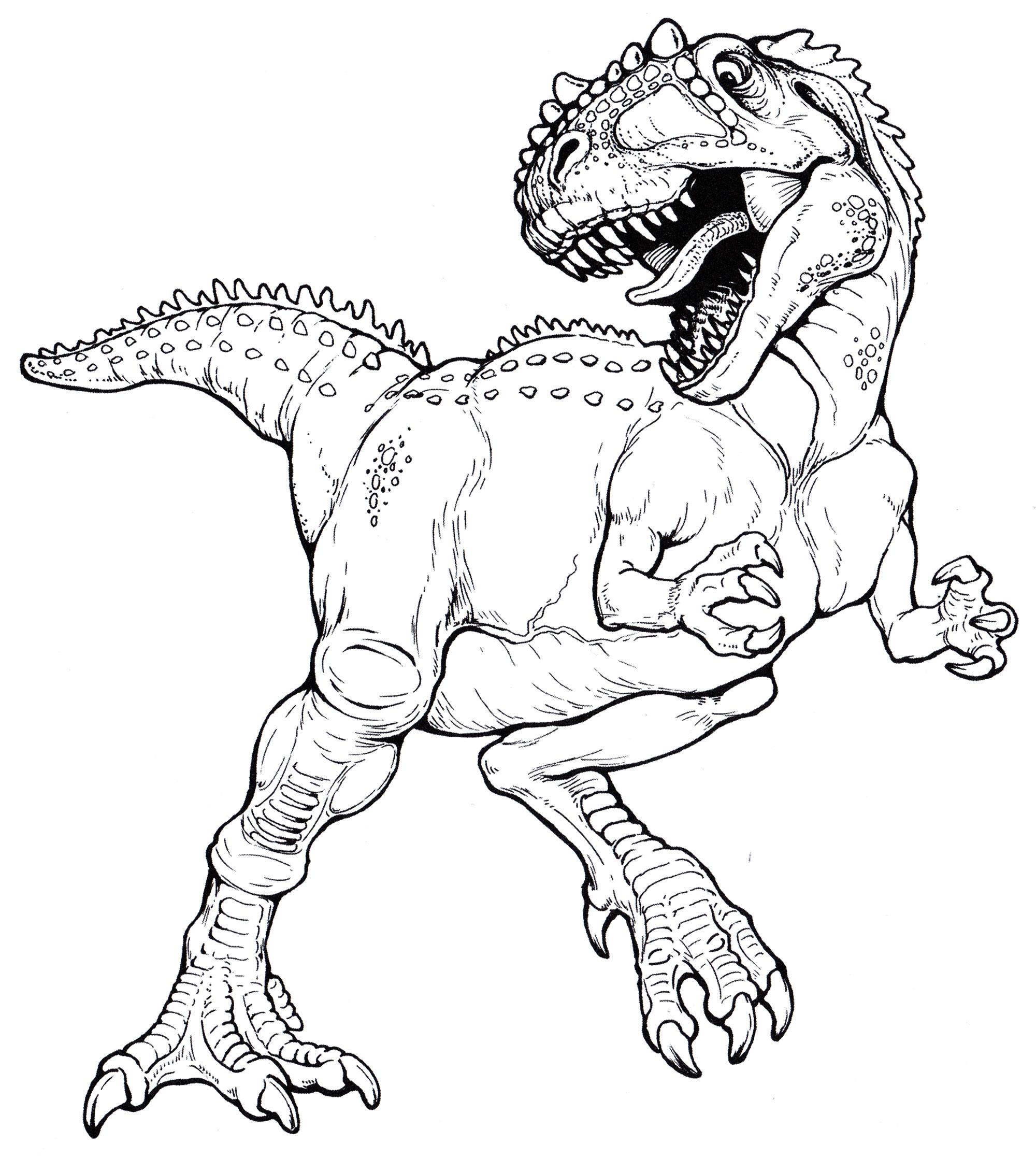Картинки раскраски динозавры хищники