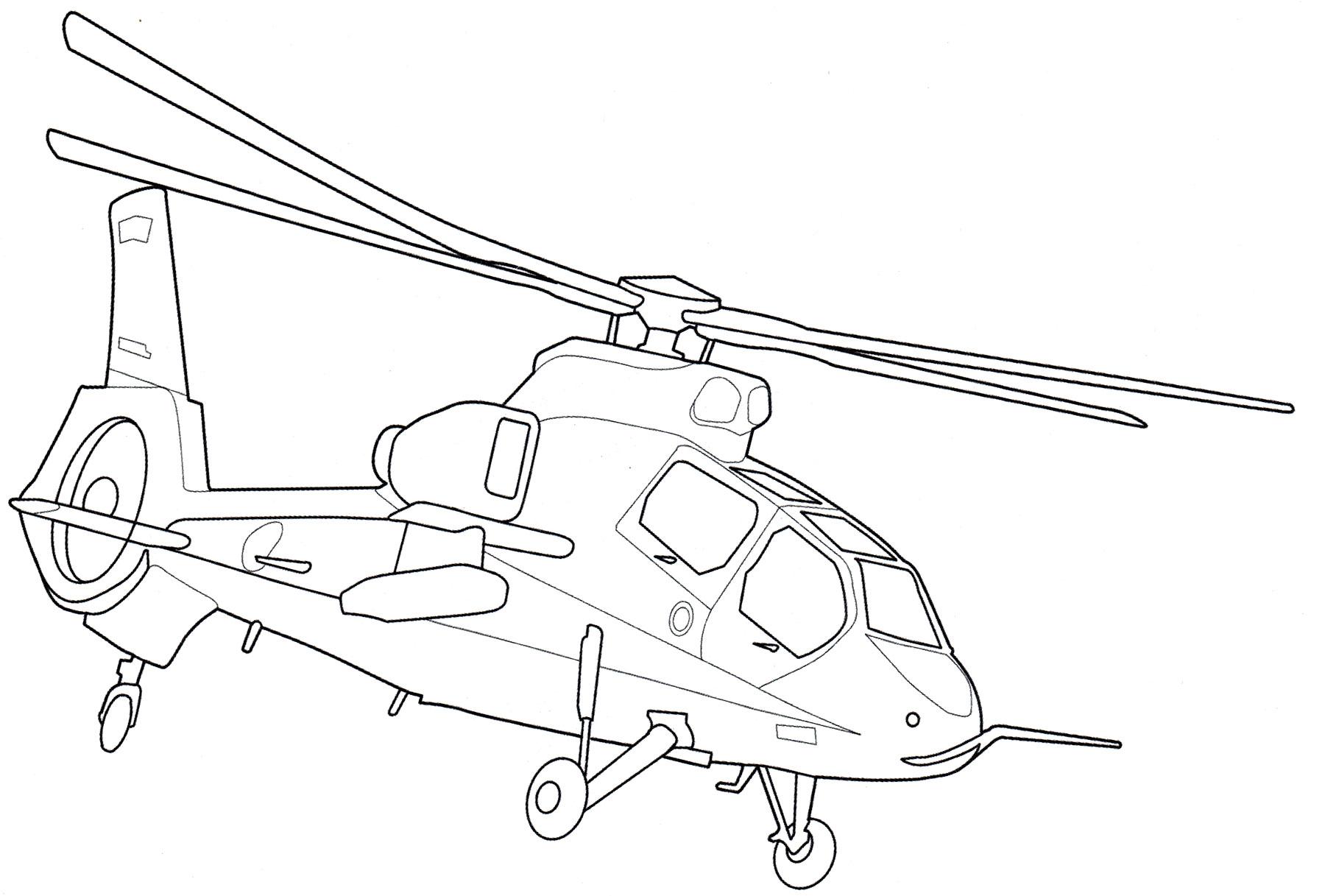 Картинки вертолета раскраски