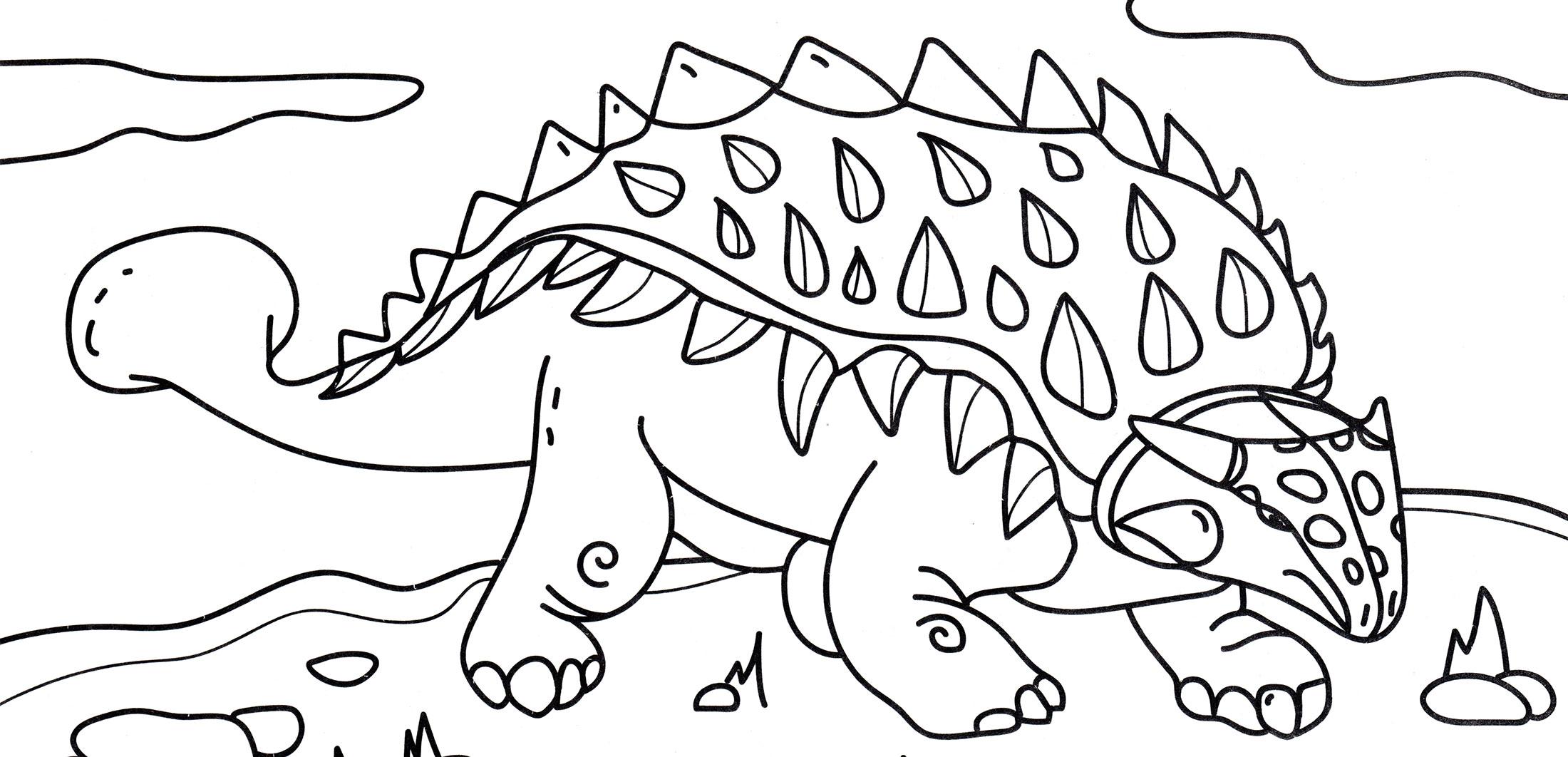 Динозавр Раскраска Распечатать А4