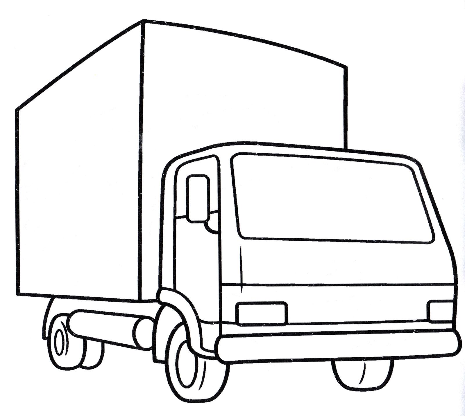Раскраска Небольшой грузовик | Раскраски Грузовики