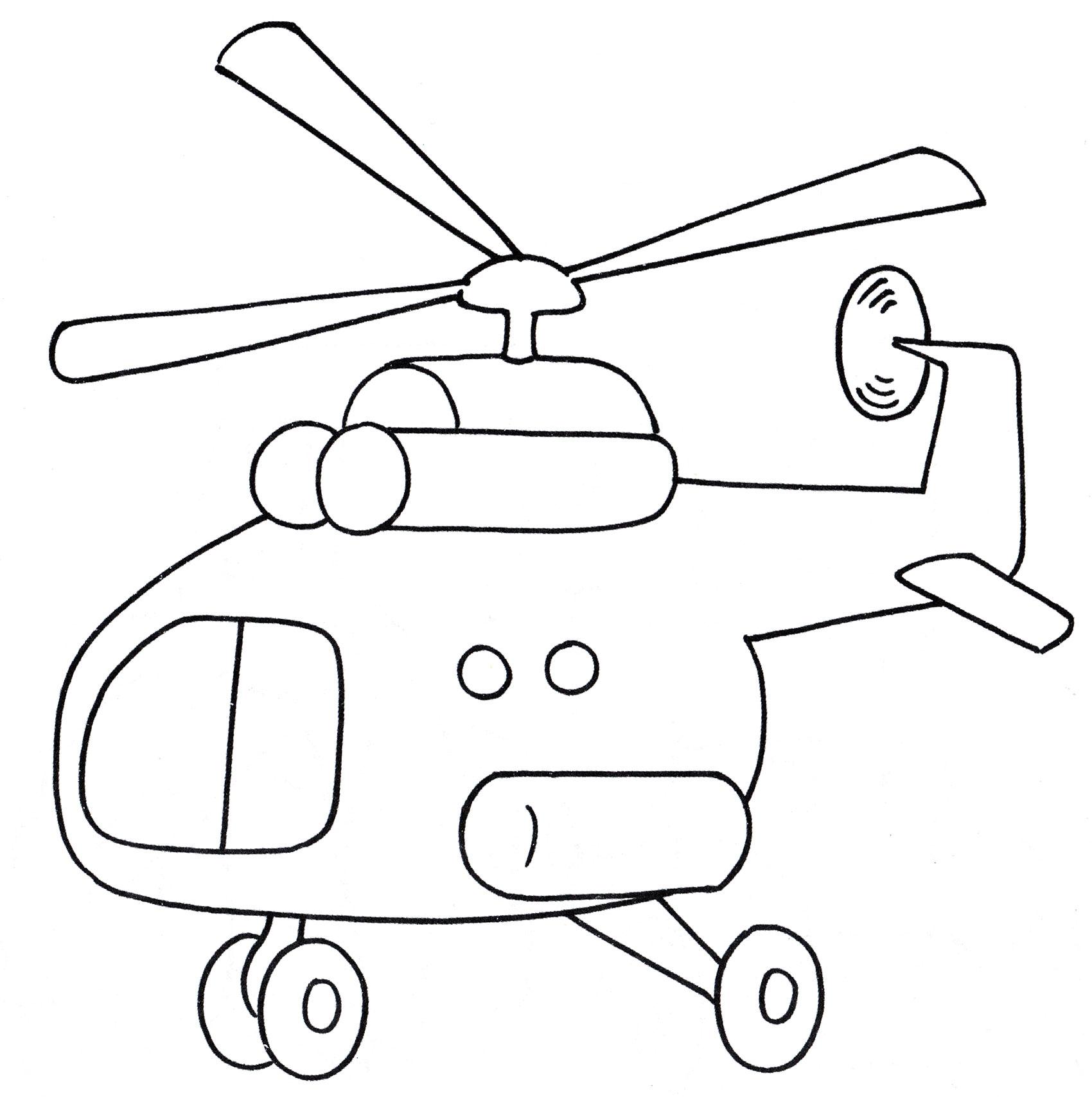 Раскраска Вертолет в небе - распечатать бесплатно