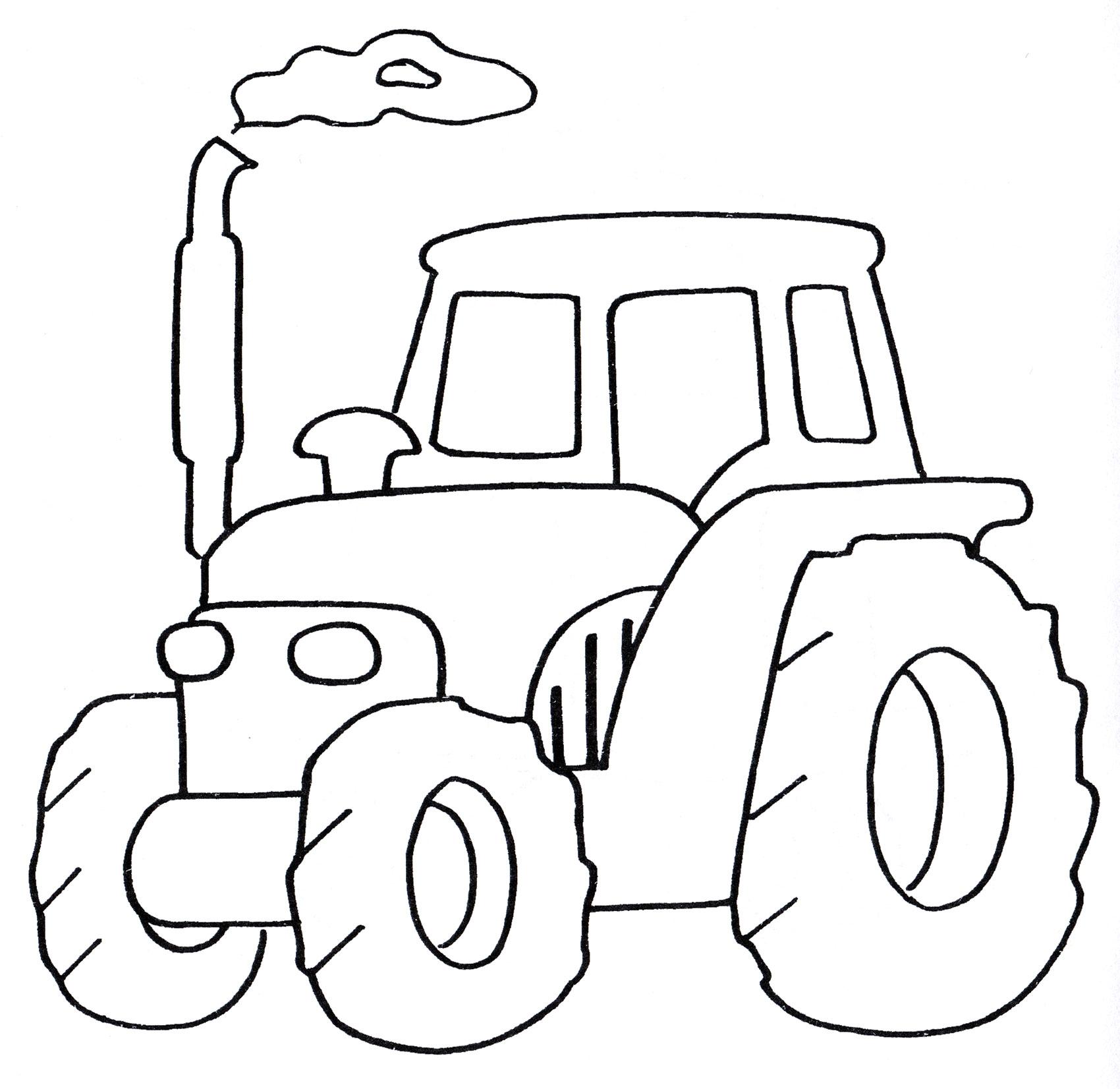 Раскраска Старенький трактор - распечатать бесплатно