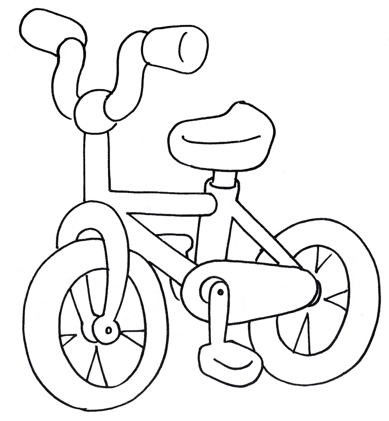 Раскраска Маленький велосипед - распечатать бесплатно