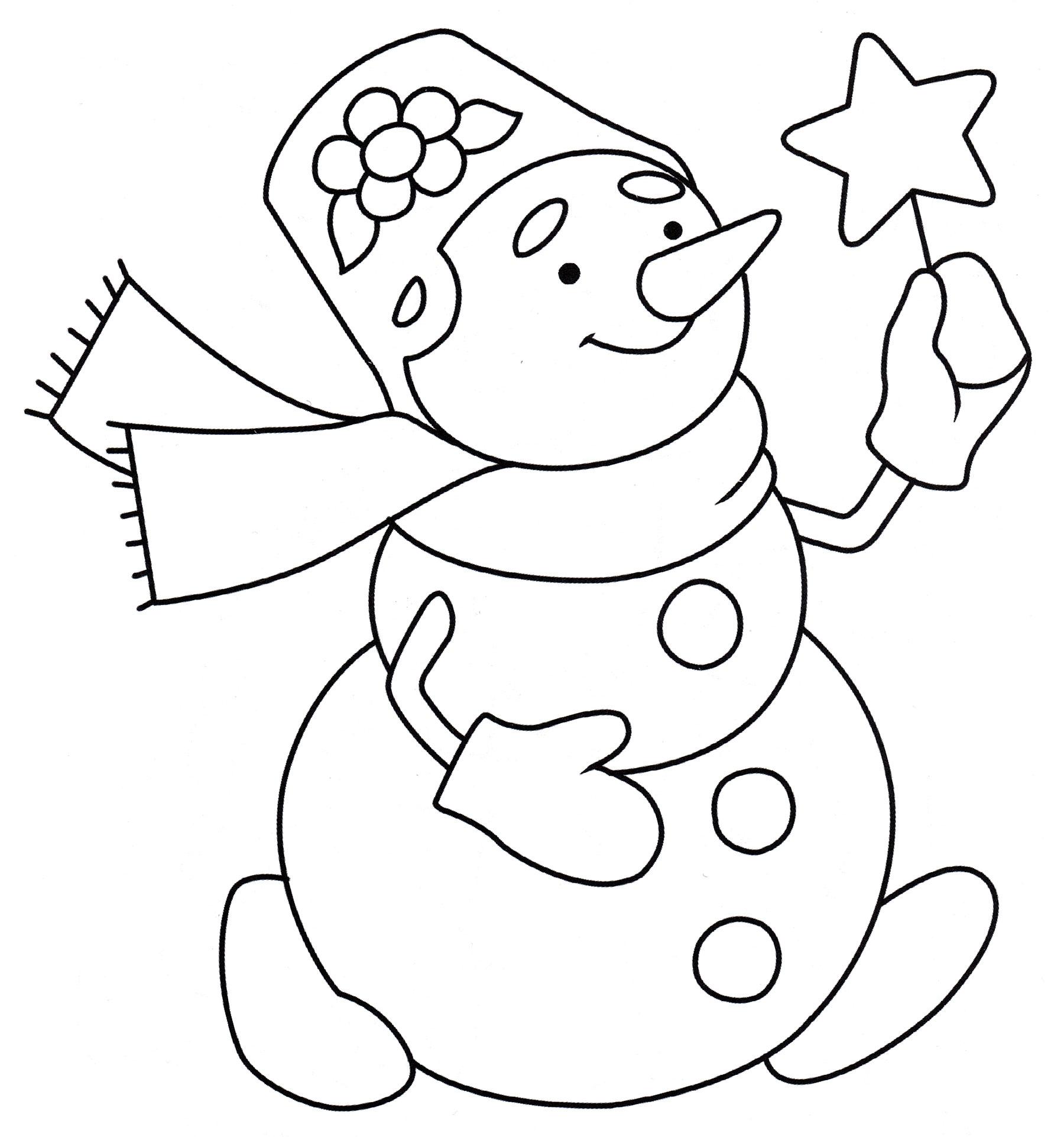 маленькая картинка снеговика раскраска все готовим