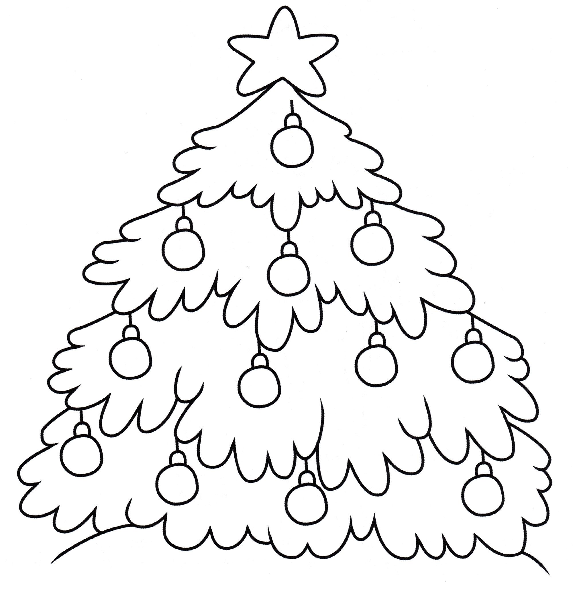 Раскраска Праздничная елочка - распечатать бесплатно
