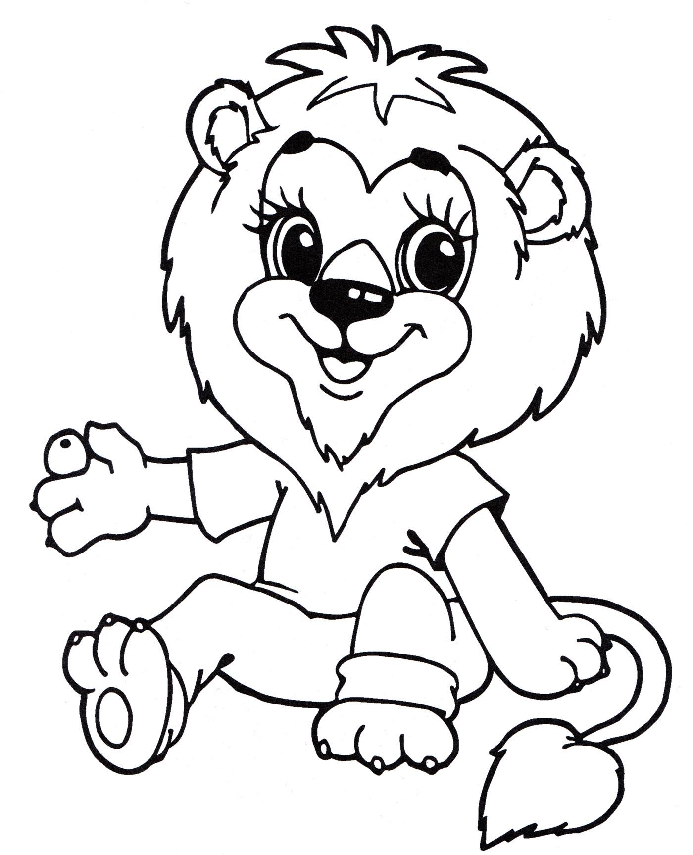 Львята картинки для детей раскраски