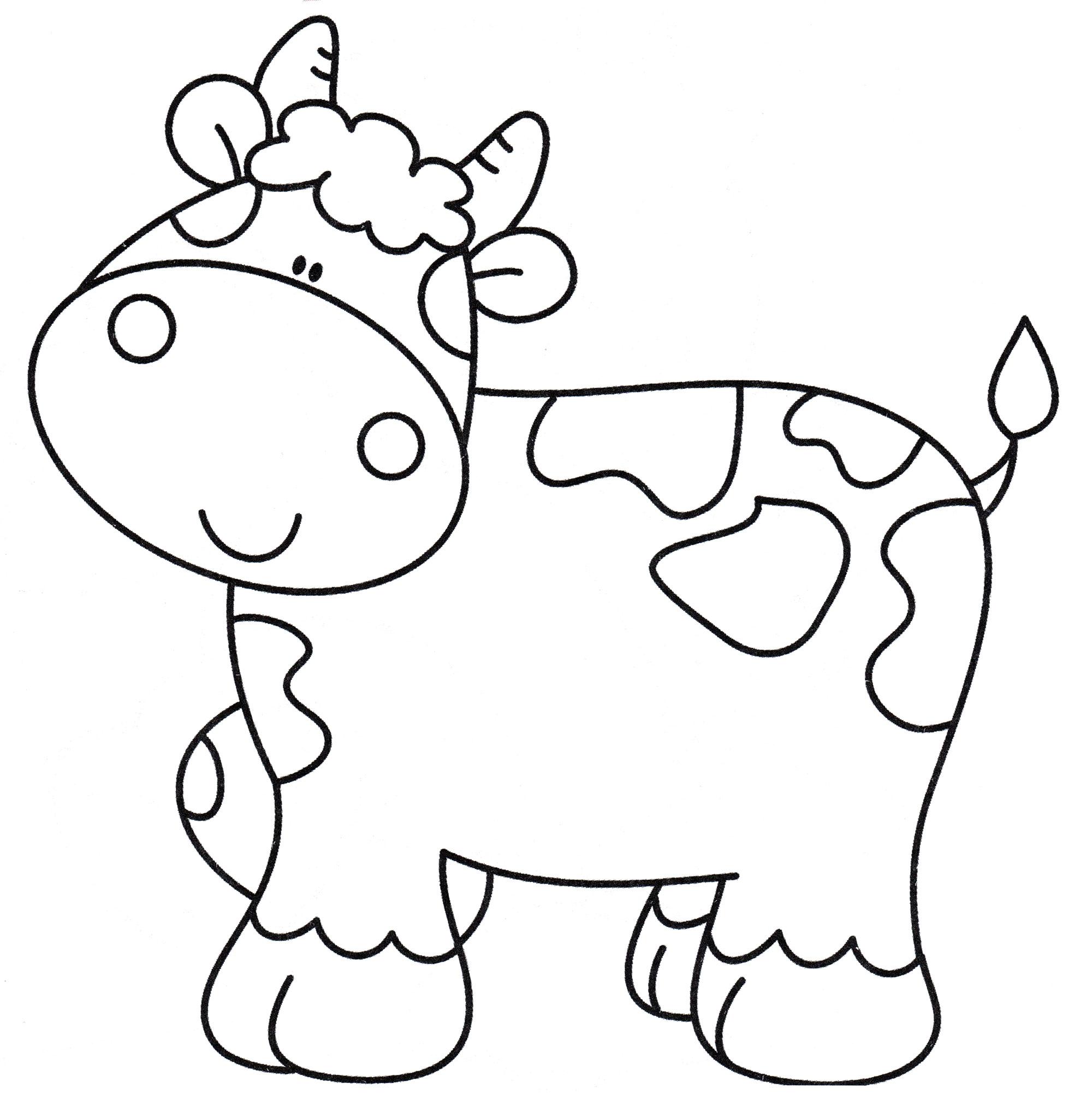 Раскраска Красивая коровка - распечатать бесплатно