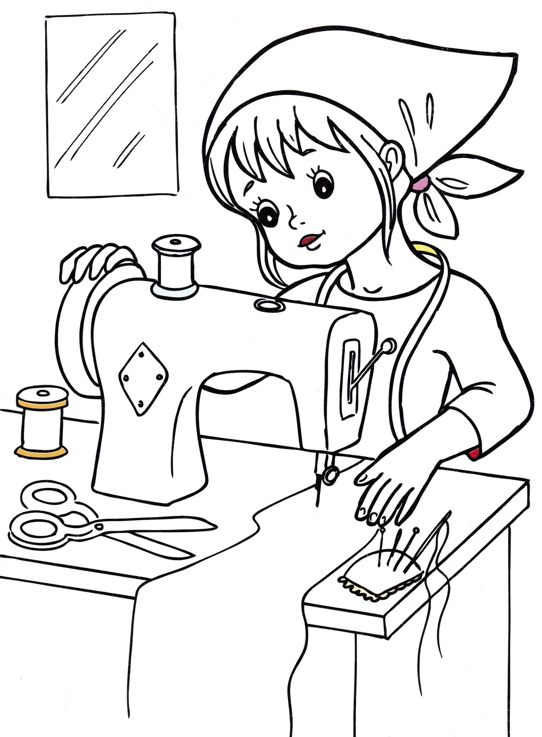 Раскраска Швея | Раскраски Профессии