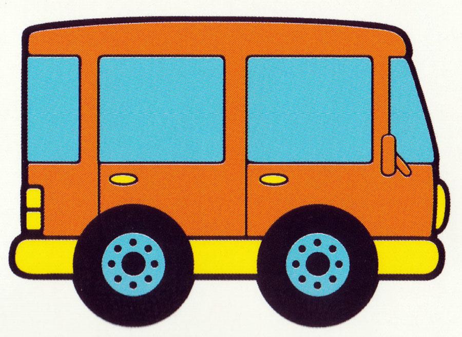 Раскраска Маленький автобус - распечатать бесплатно