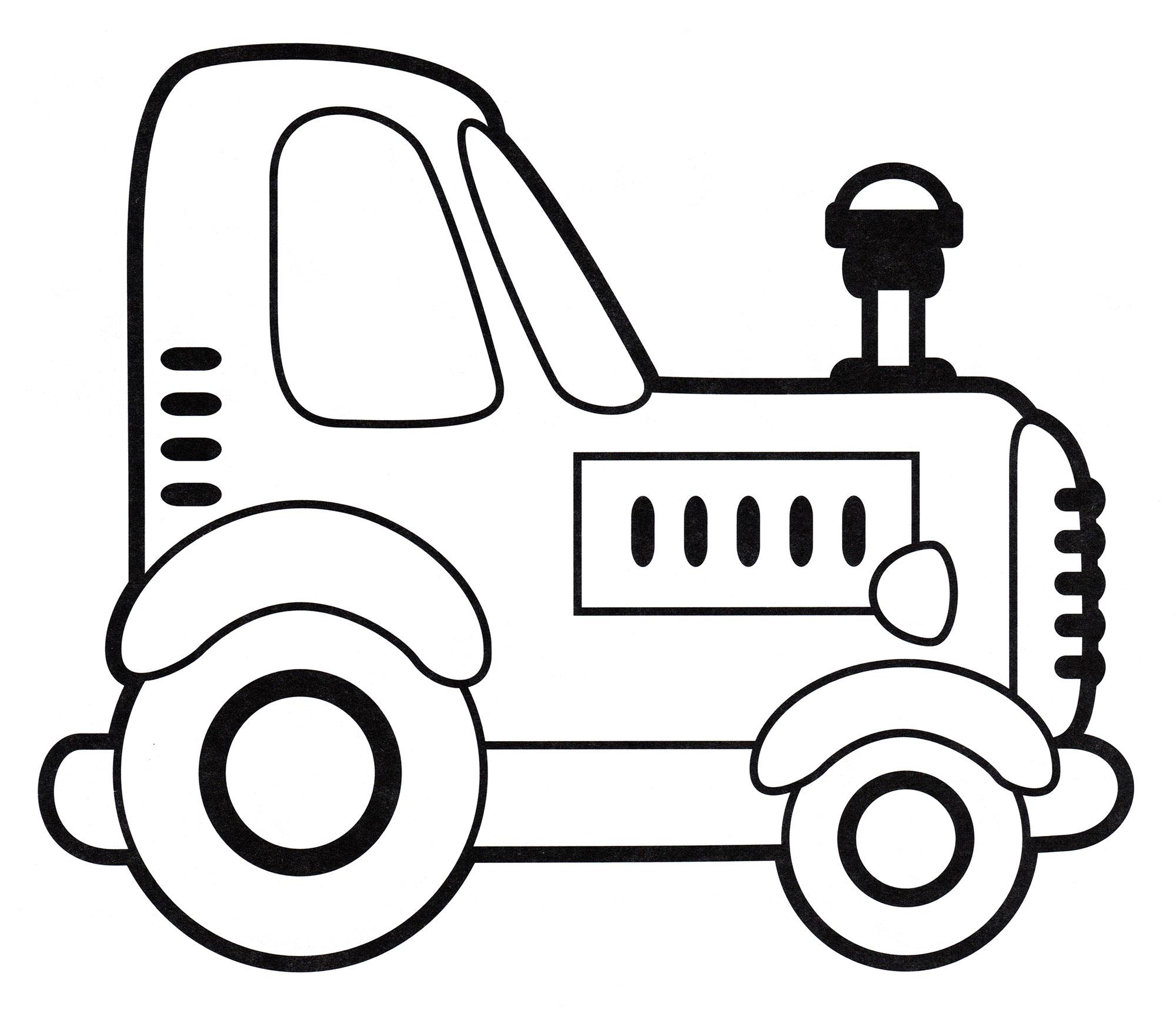 Раскраска Небольшой трактор - распечатать бесплатно