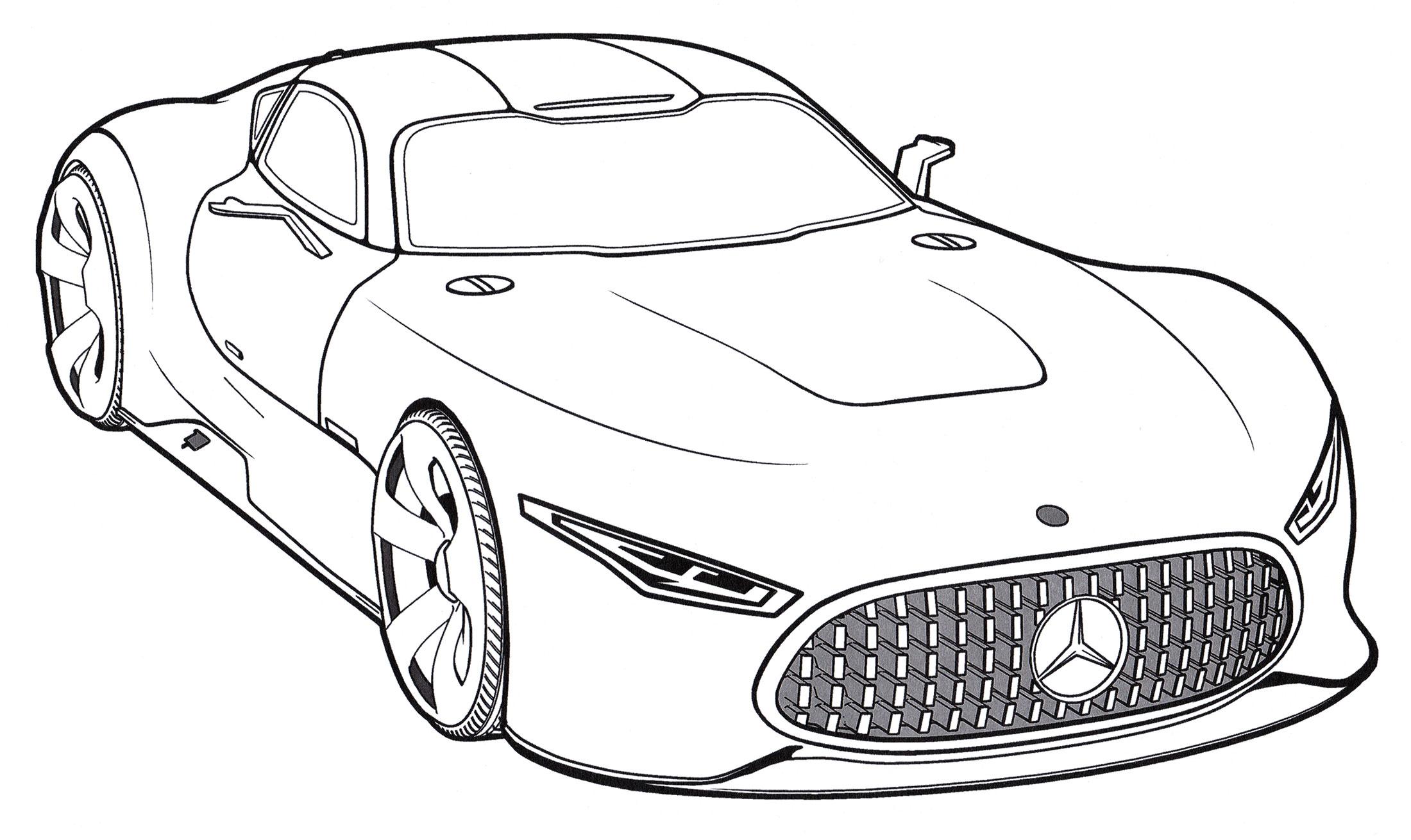 Раскраска Mercedes AMG Vision Gran Turismo - распечатать ...