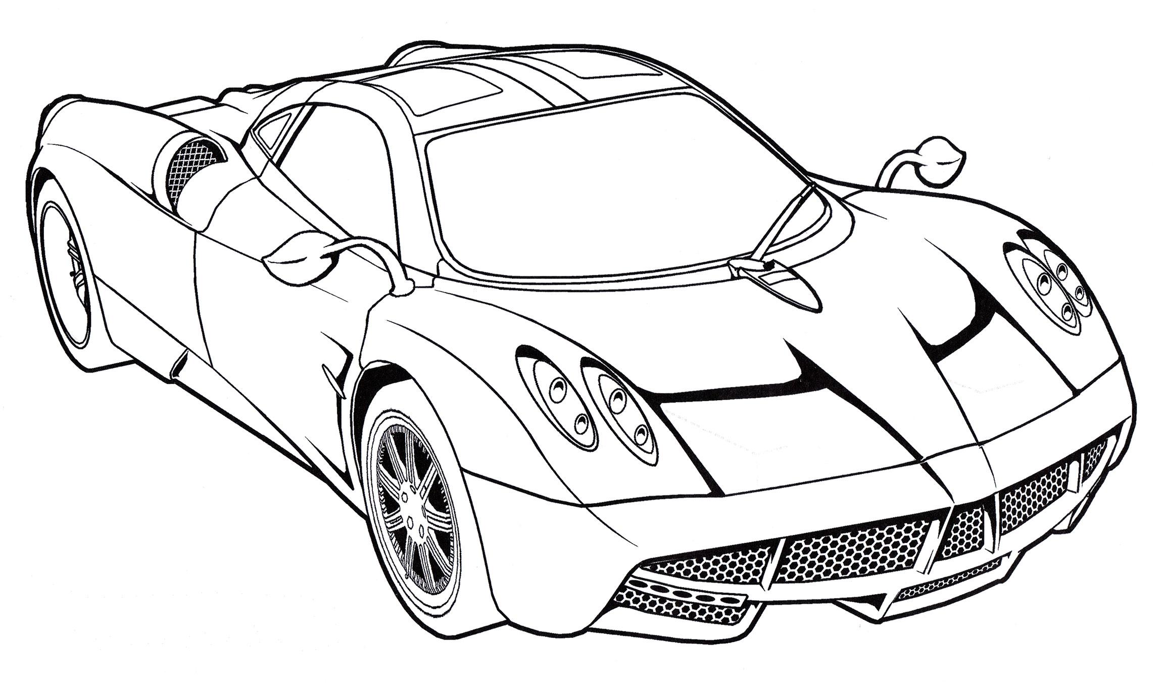 Раскраска Pagani Huayra Carbon - распечатать бесплатно
