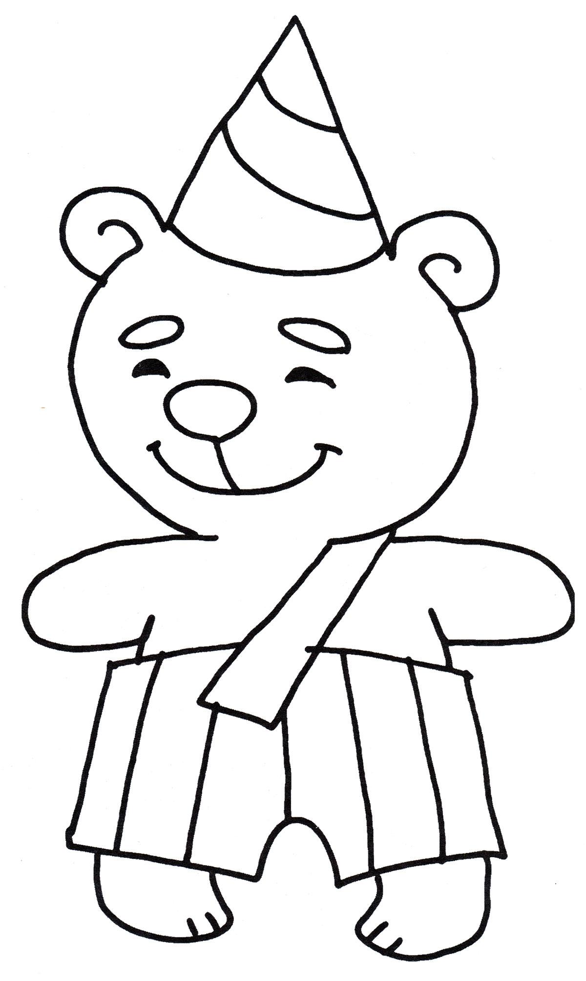 Раскраска Милый медвежонок - распечатать бесплатно