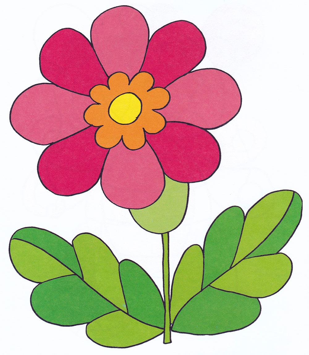 Раскраска Цветочек в саду - распечатать бесплатно