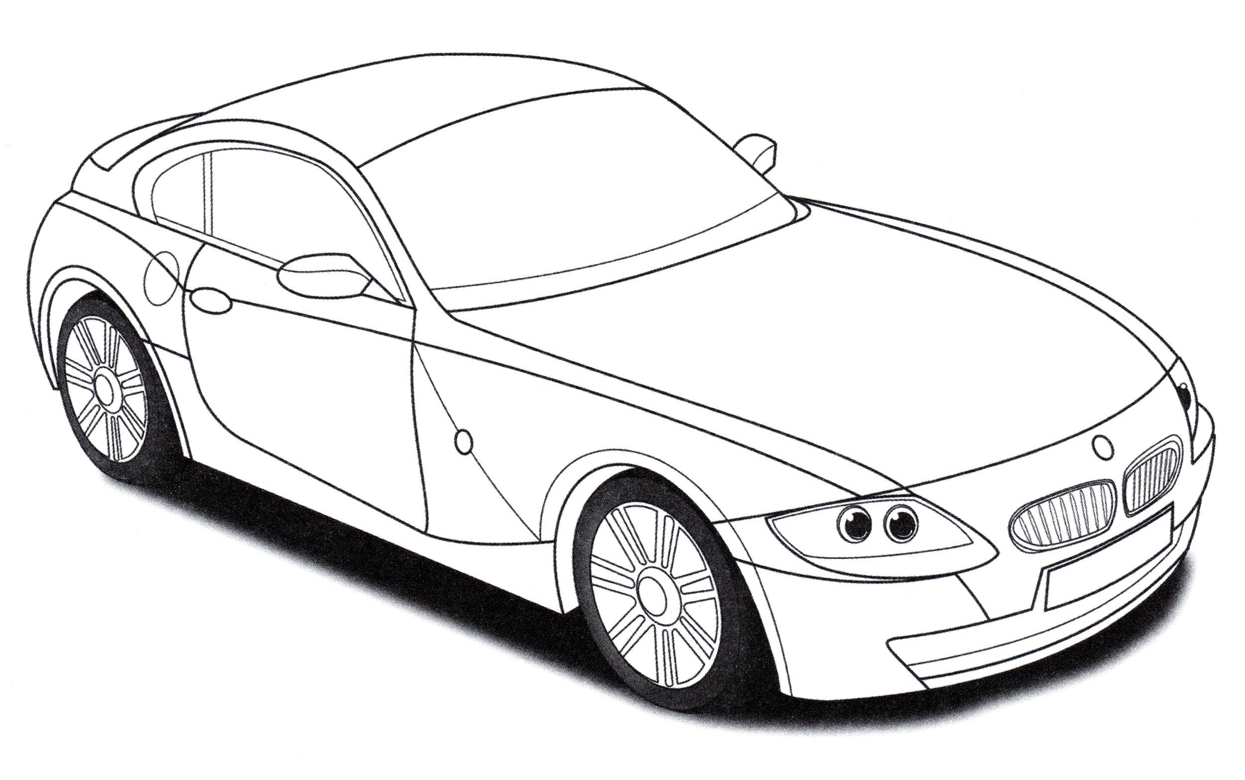 Раскраска BMW Z4 M - распечатать бесплатно