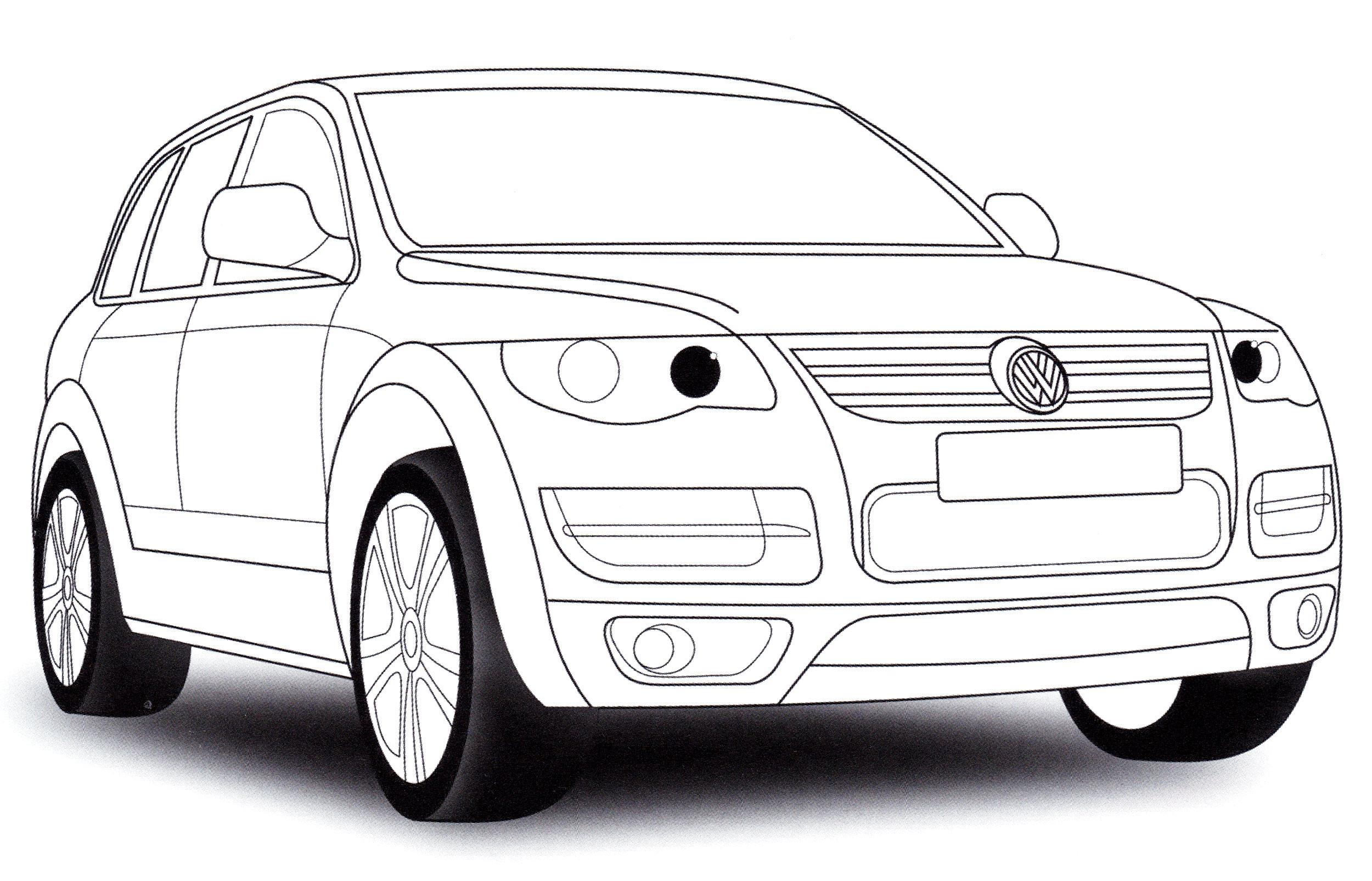 Раскраска Volkswagen Touareg - распечатать бесплатно