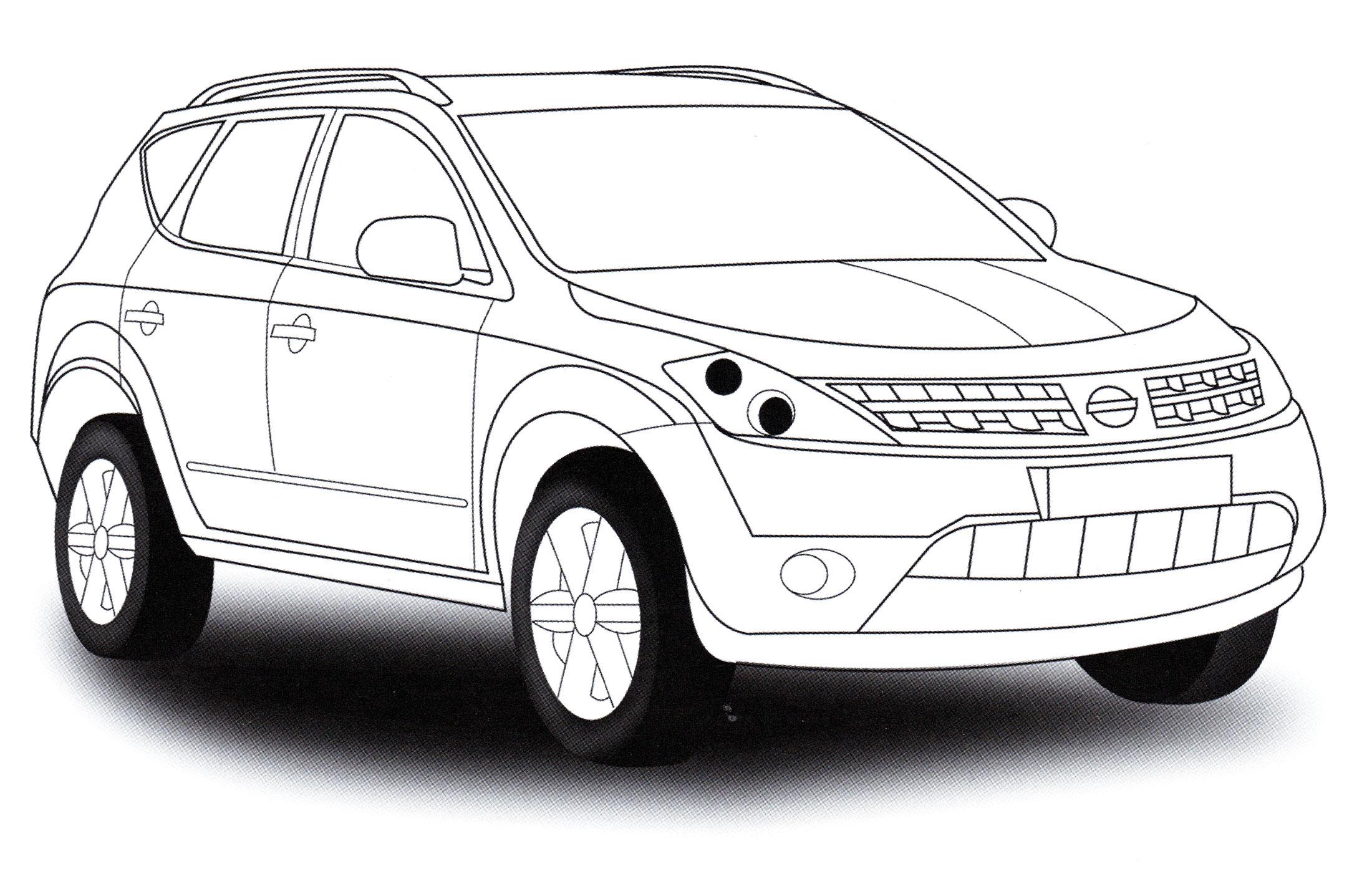 Раскраска Nissan Murano - распечатать бесплатно