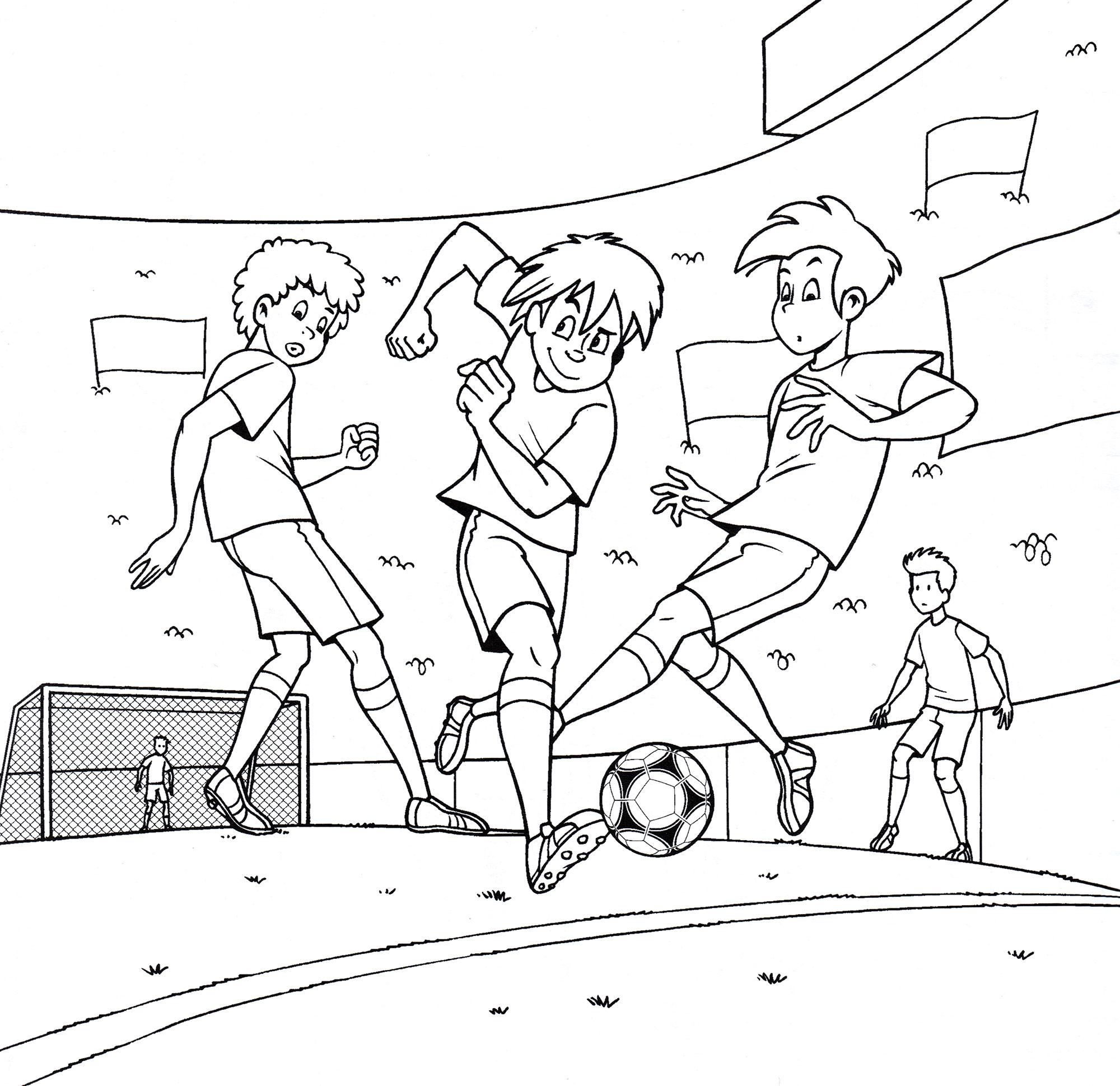 Раскраска Нападающий с мячом | Раскраски футбол