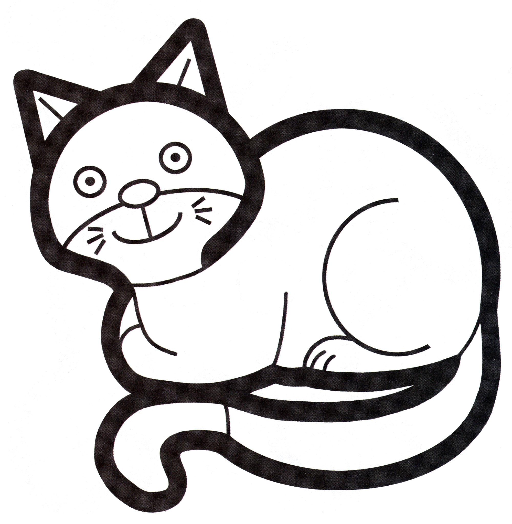 Раскраска Милая кошка отдыхает - распечатать бесплатно