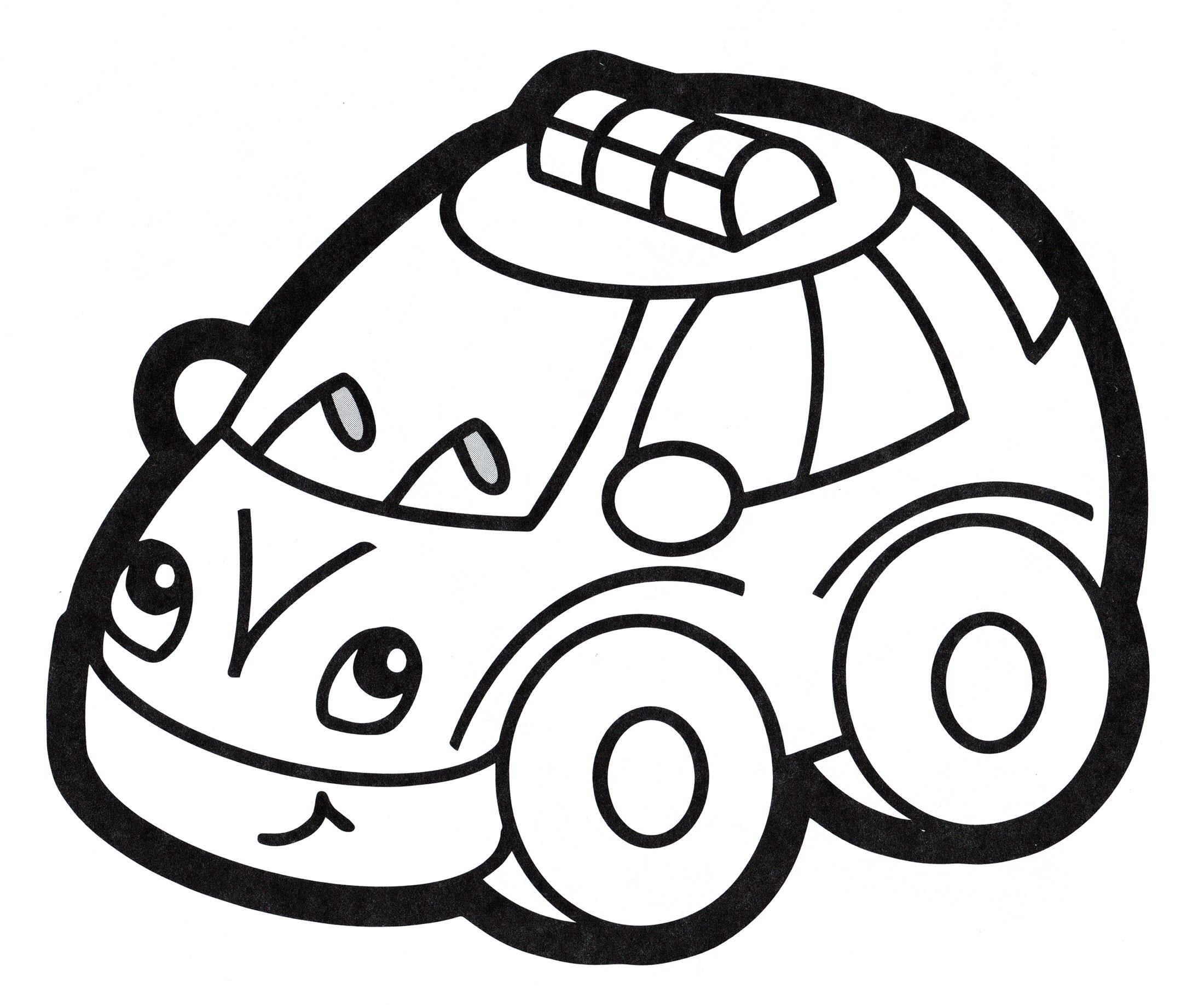Раскраска Игрушечная машина такси - распечатать бесплатно