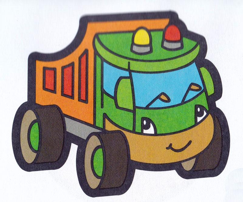 Раскраска Милый игрушечный грузовик   Раскраски Грузовики