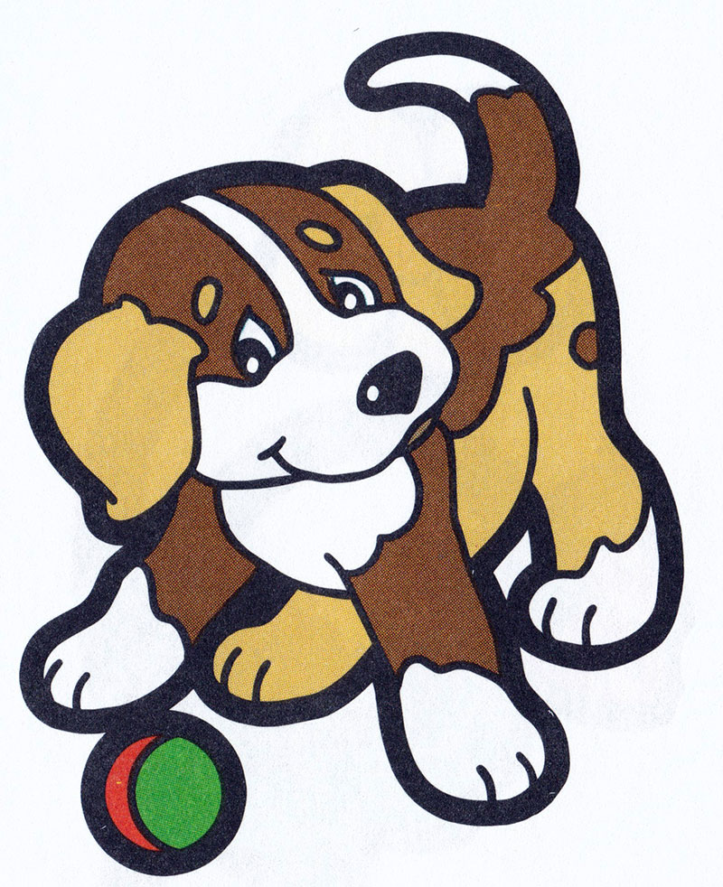 Раскраска Собака играет с мячиком - распечатать бесплатно
