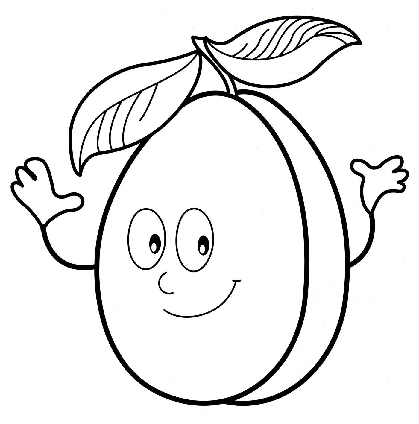 Смешные овощи и фрукты картинки для детей распечатать для раскраски, дарю тебе