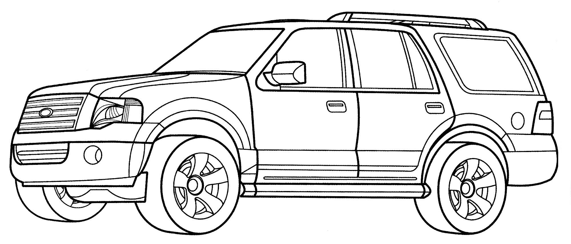 Раскраска Ford Expedition