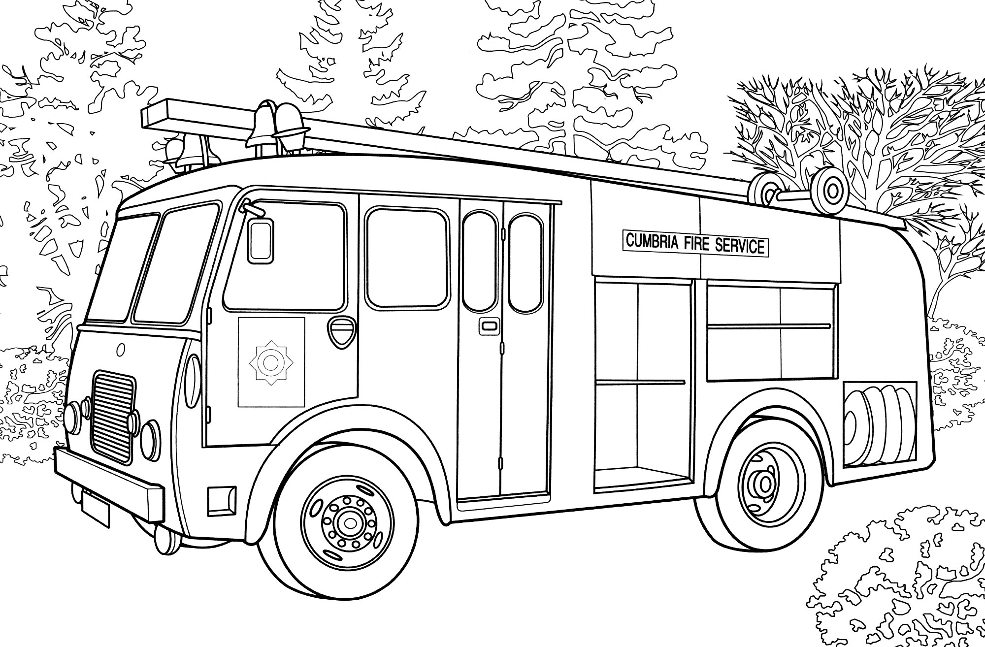Раскраска Пожарная машина Range Rover 1937 - распечатать ...