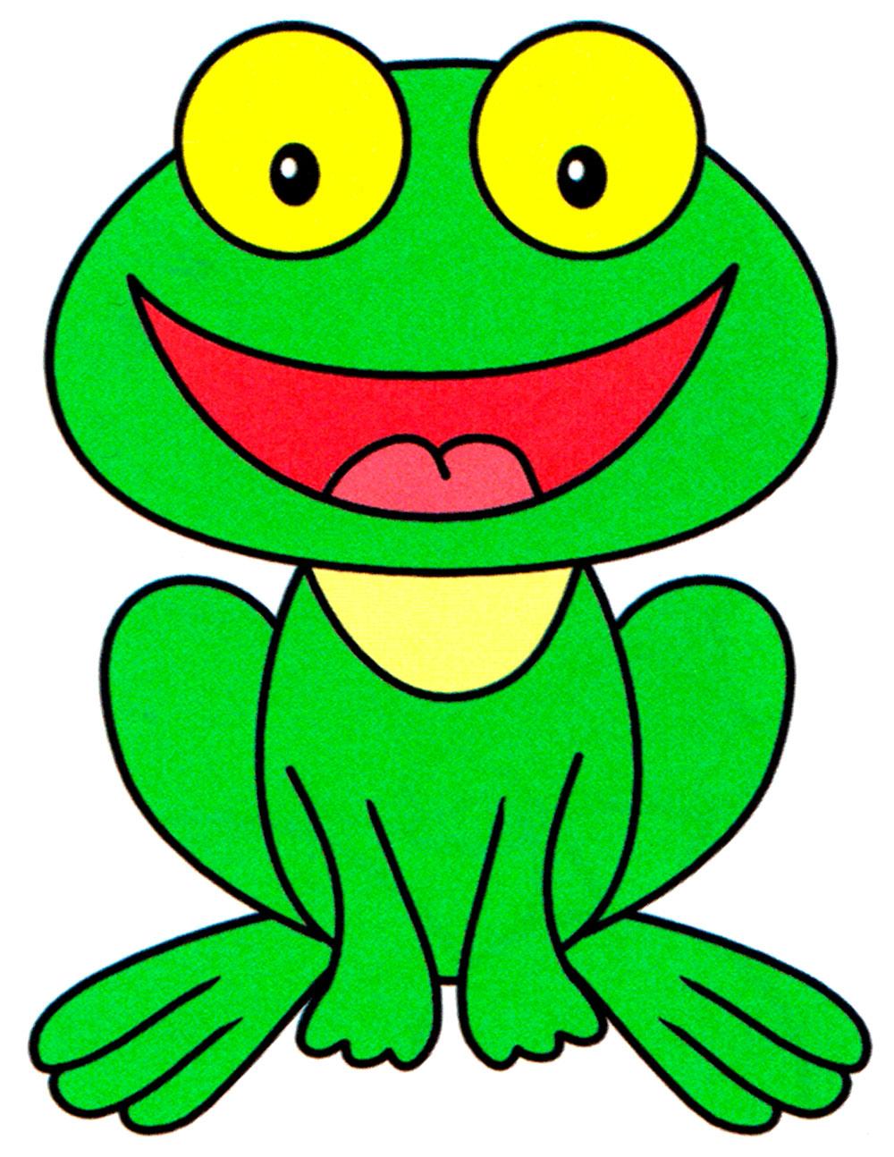Раскраска Милый лягушонок - распечатать бесплатно