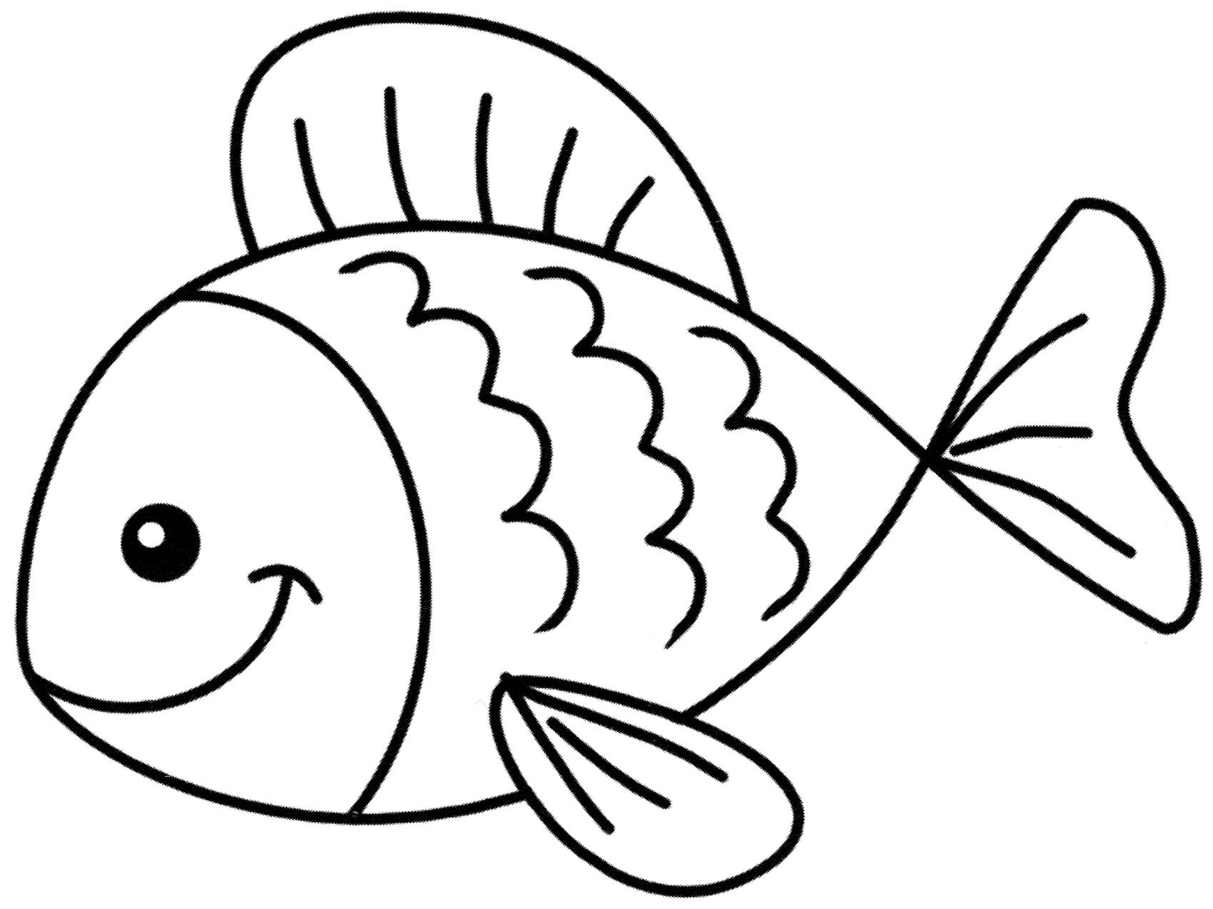 Раскраска Улыбчивая рыбка - распечатать бесплатно