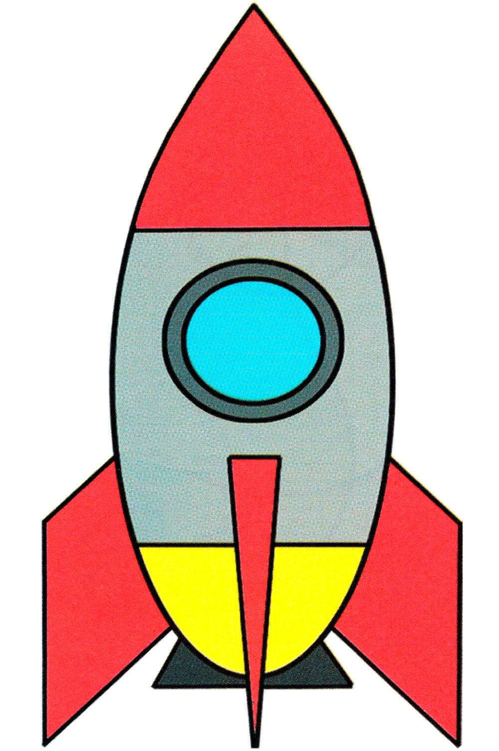 Раскраска Космическая ракета игрушка - распечатать бесплатно