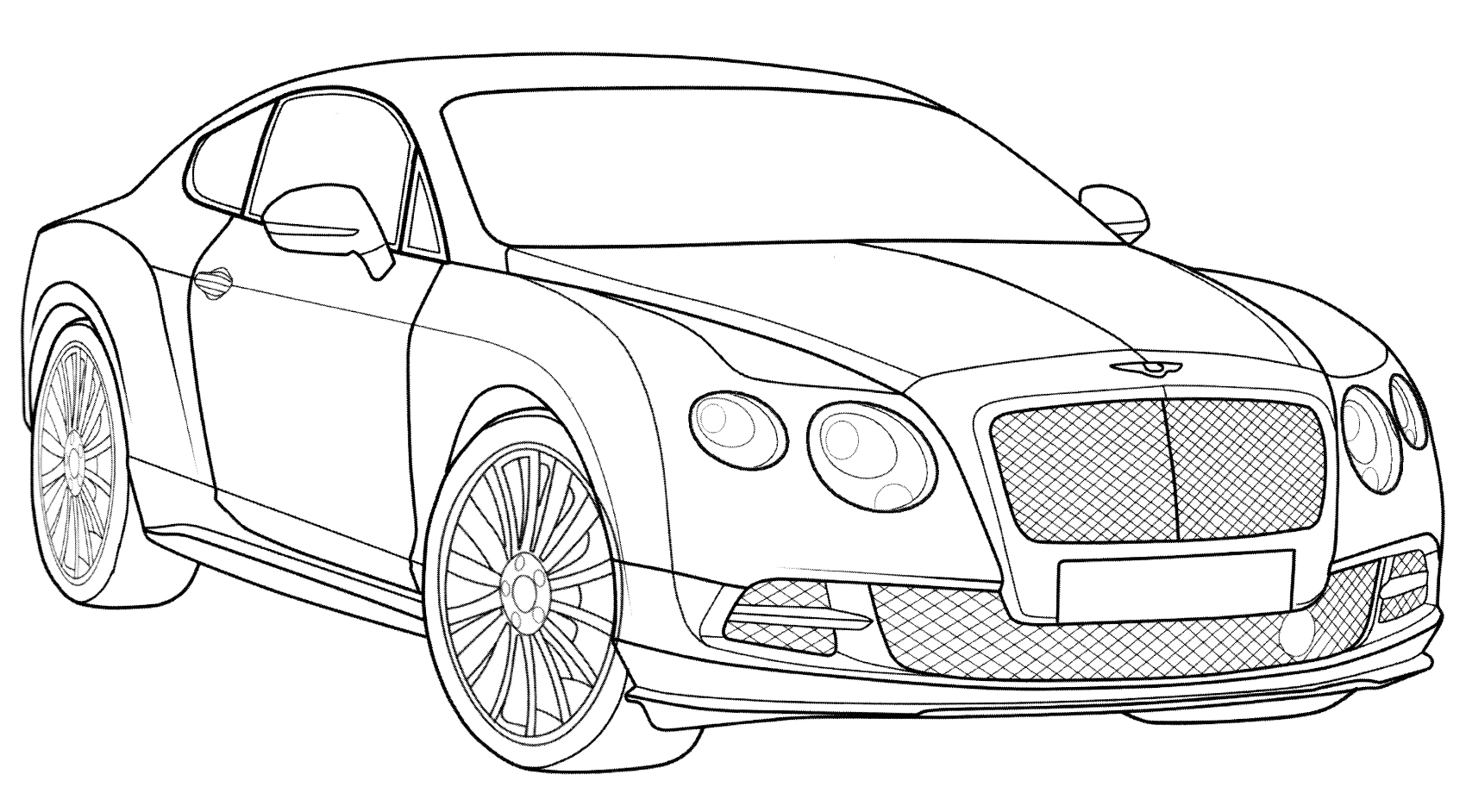 Раскраска Bentley Continental GT Speed