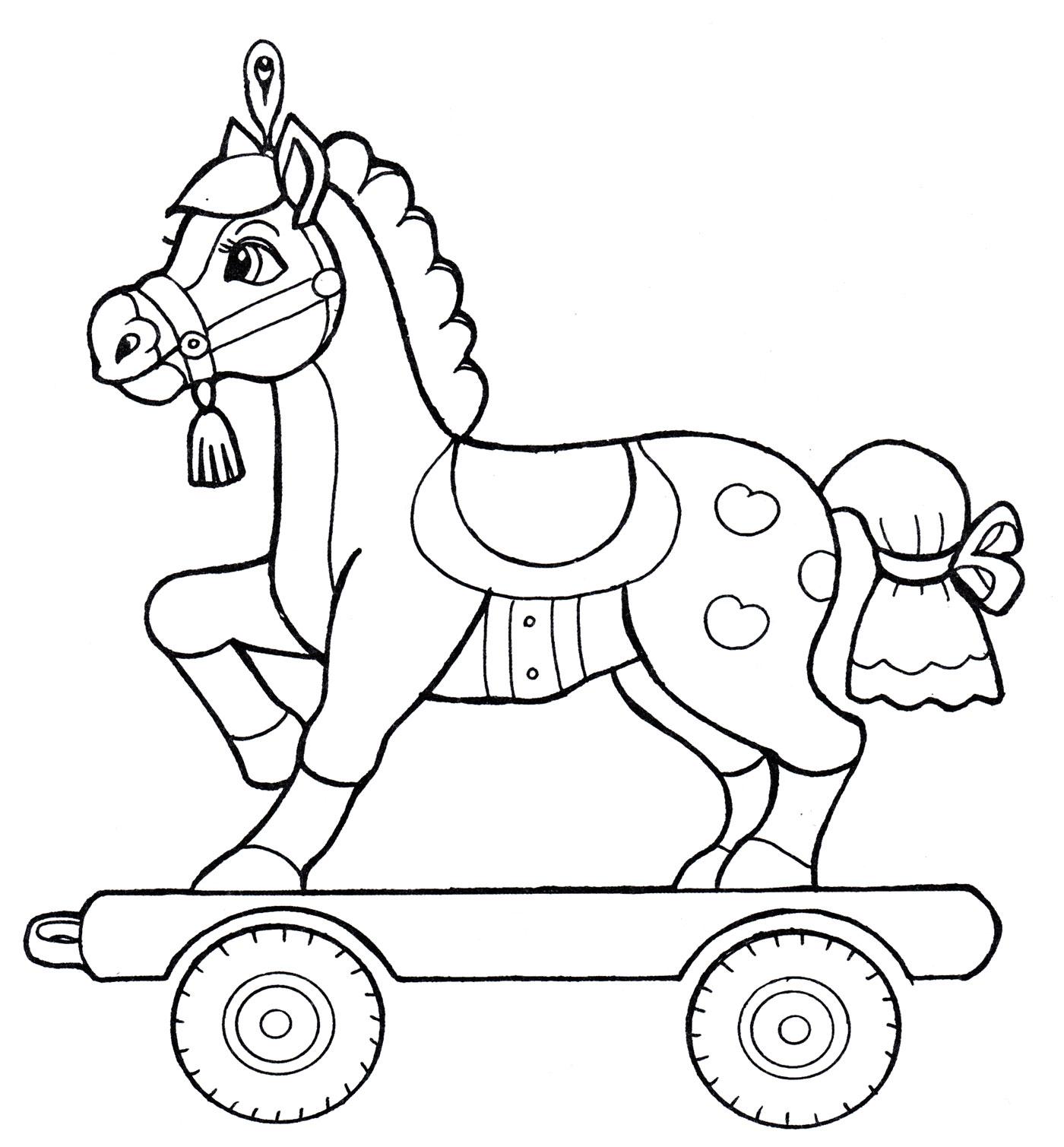 Раскраска Пони на колесах - распечатать бесплатно