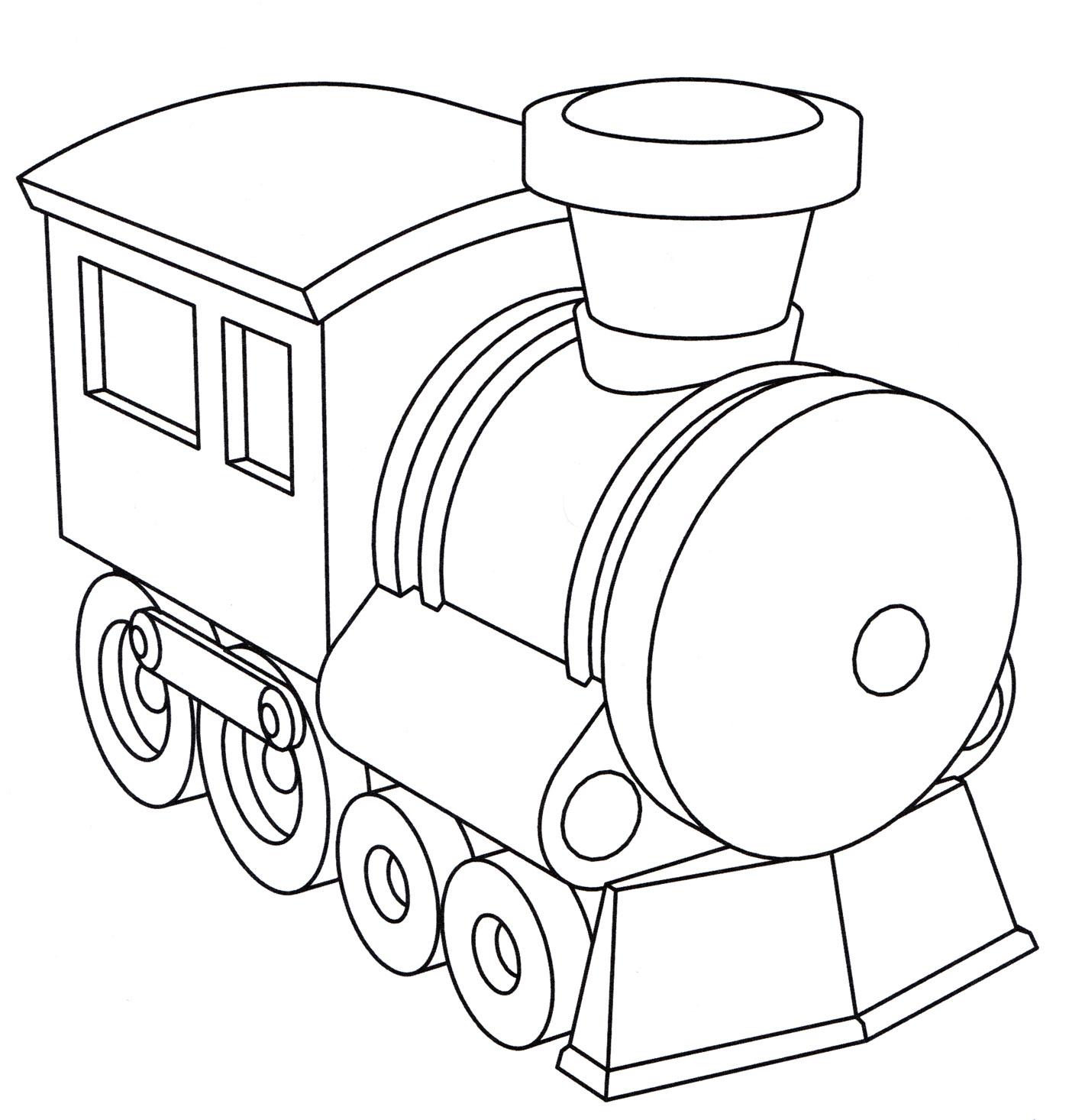 Картинка паровозика для детей раскраска