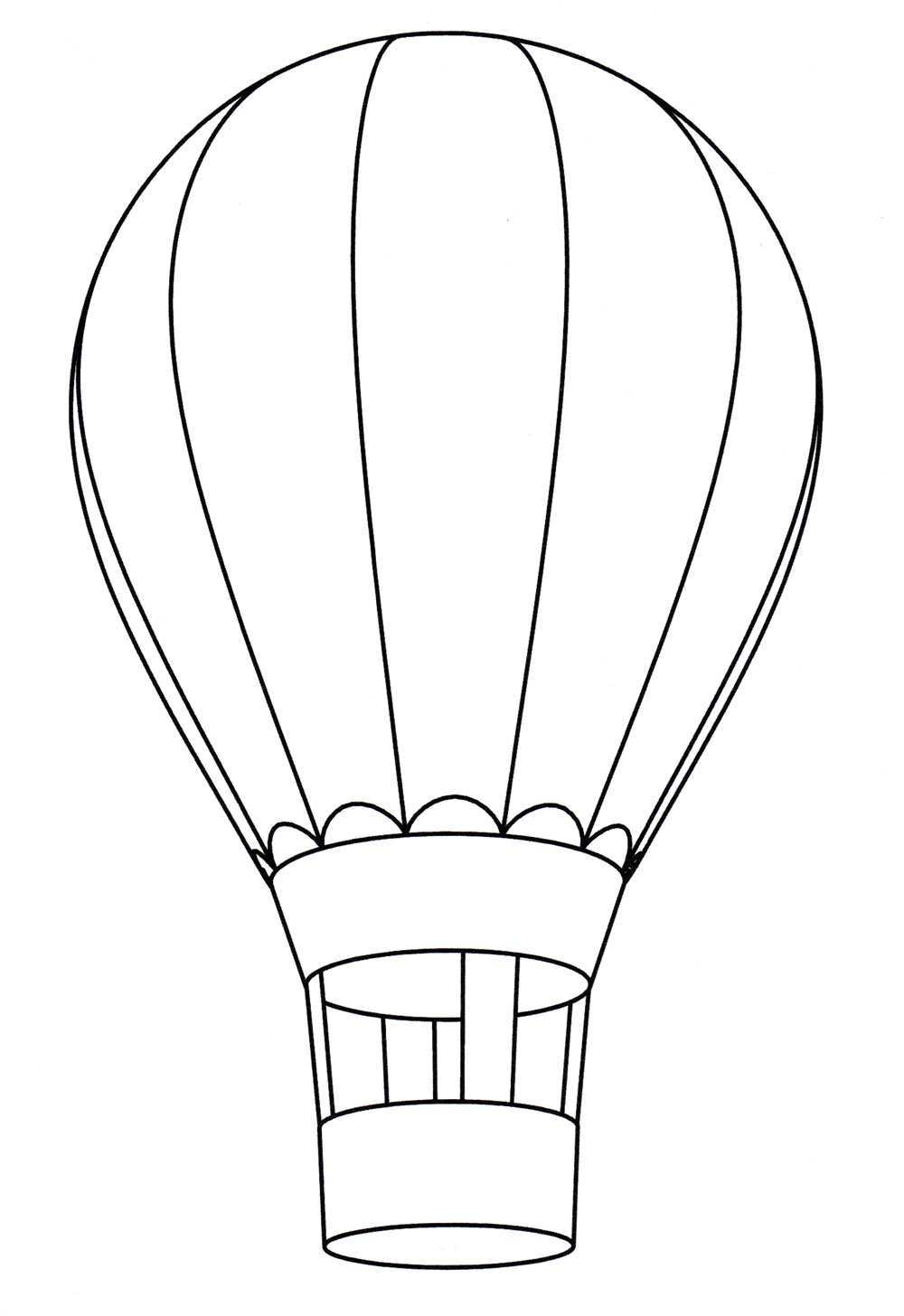 Раскраска Воздушный шар - распечатать бесплатно