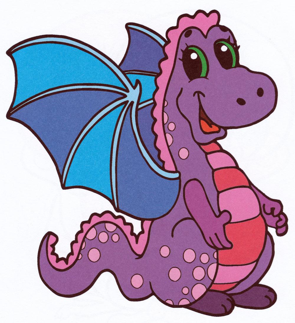 Раскраска Милый дракончик - распечатать бесплатно