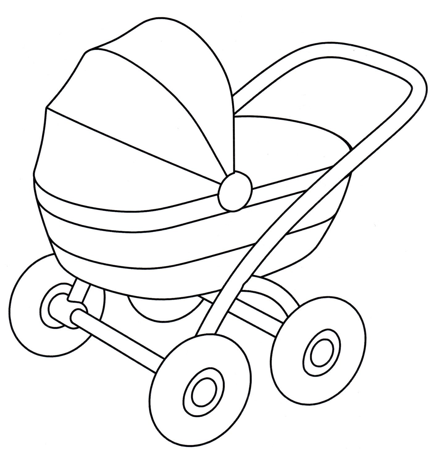 Легкие рисунки коляски