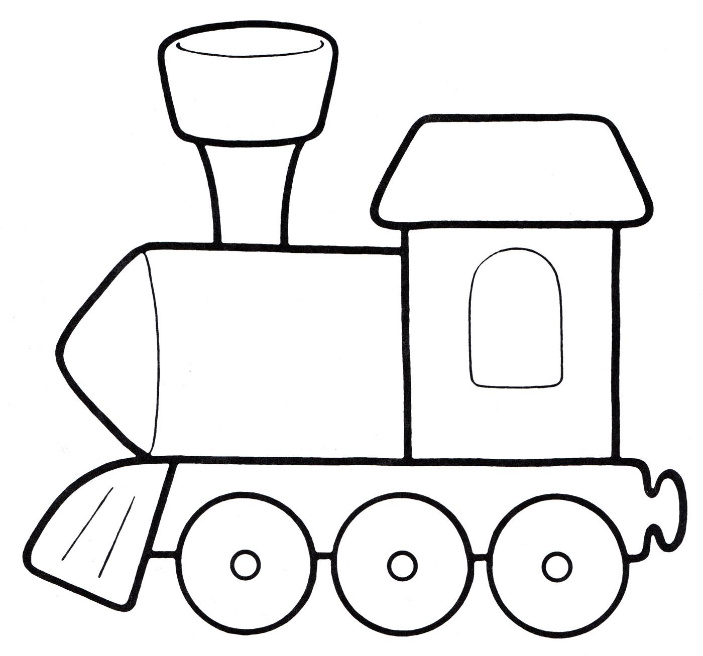 Картинки раскраски поезд для детей