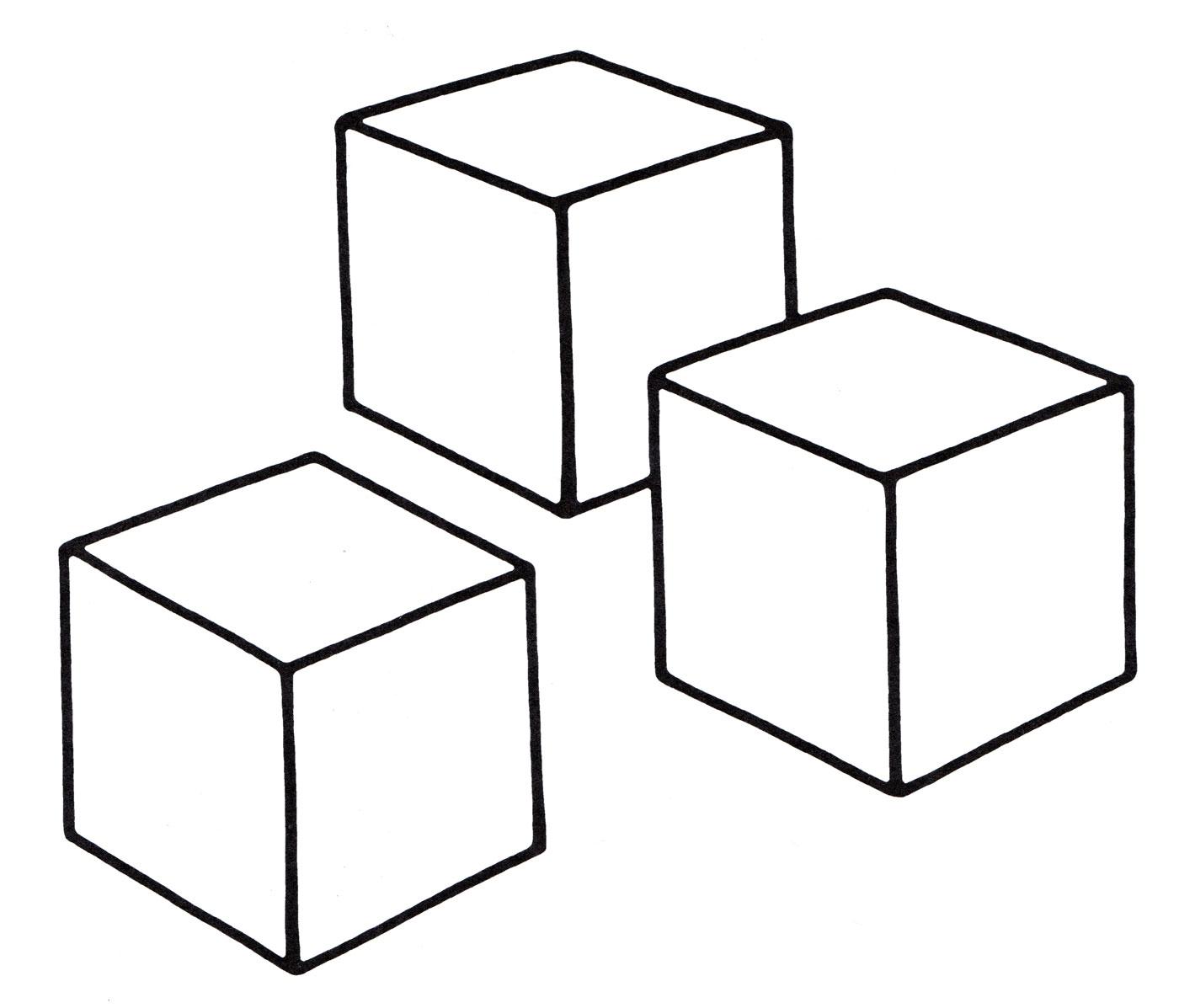 раскраска кубики распечатать бесплатно