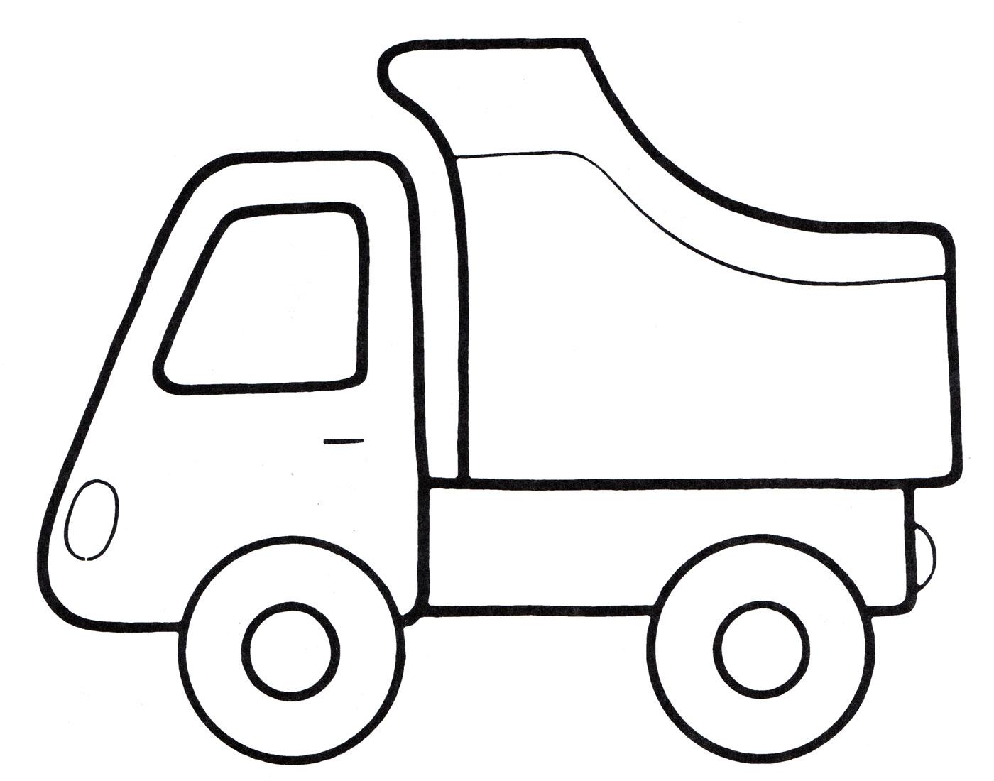 Раскраска Машина-самосвал - распечатать бесплатно