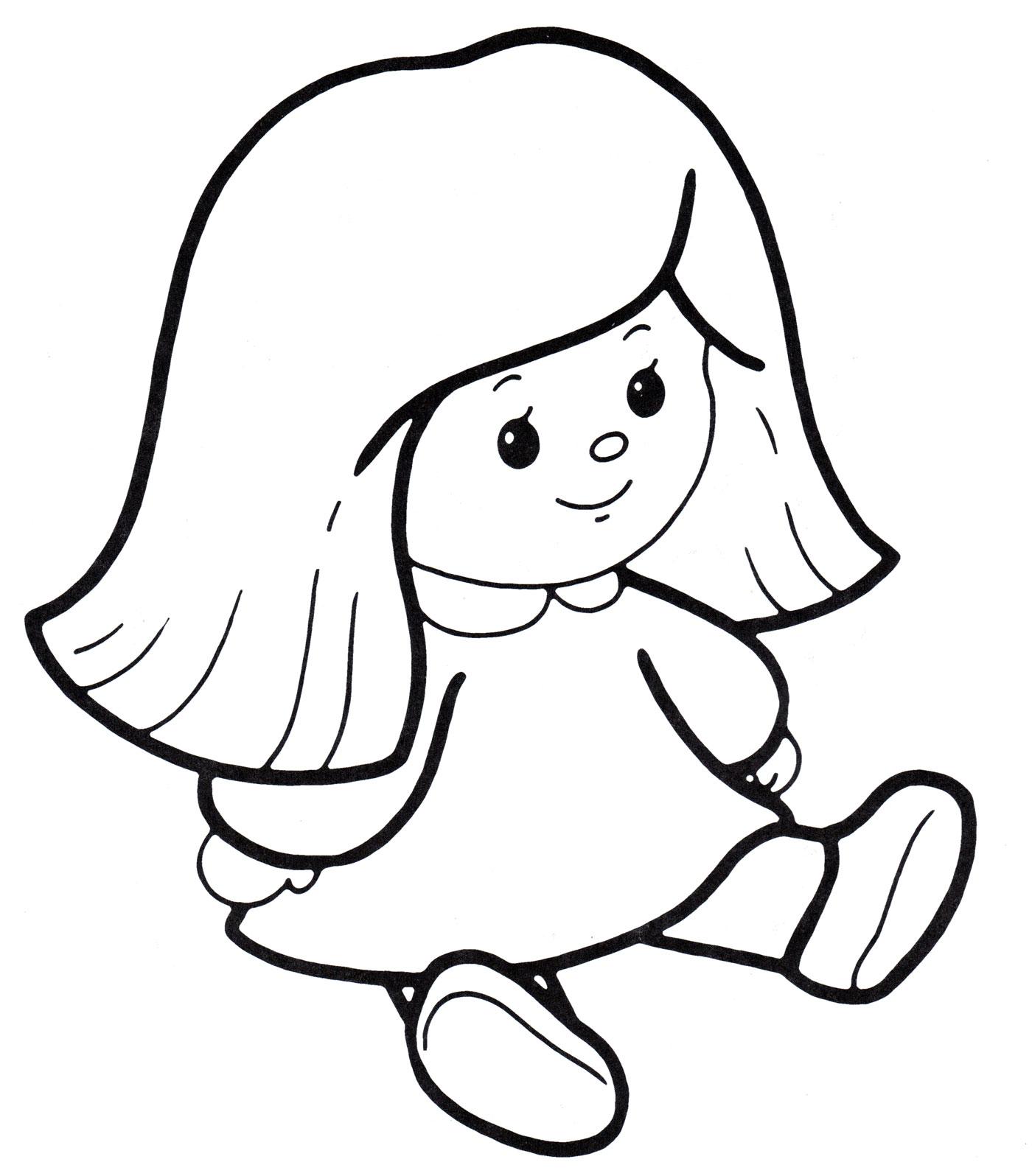 Раскраска Кукла Маша - распечатать бесплатно
