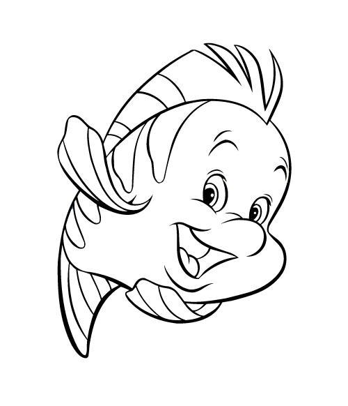 Раскраска Рыбка Флаундер - распечатать бесплатно