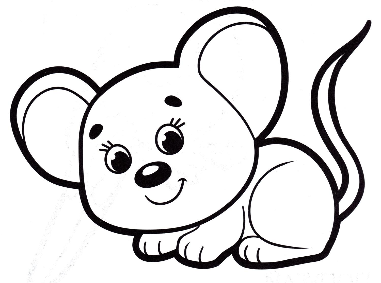 Раскраска мышь картинки