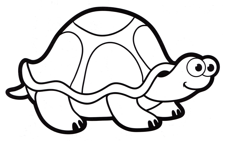 Раскраска Милая черепаха - распечатать бесплатно