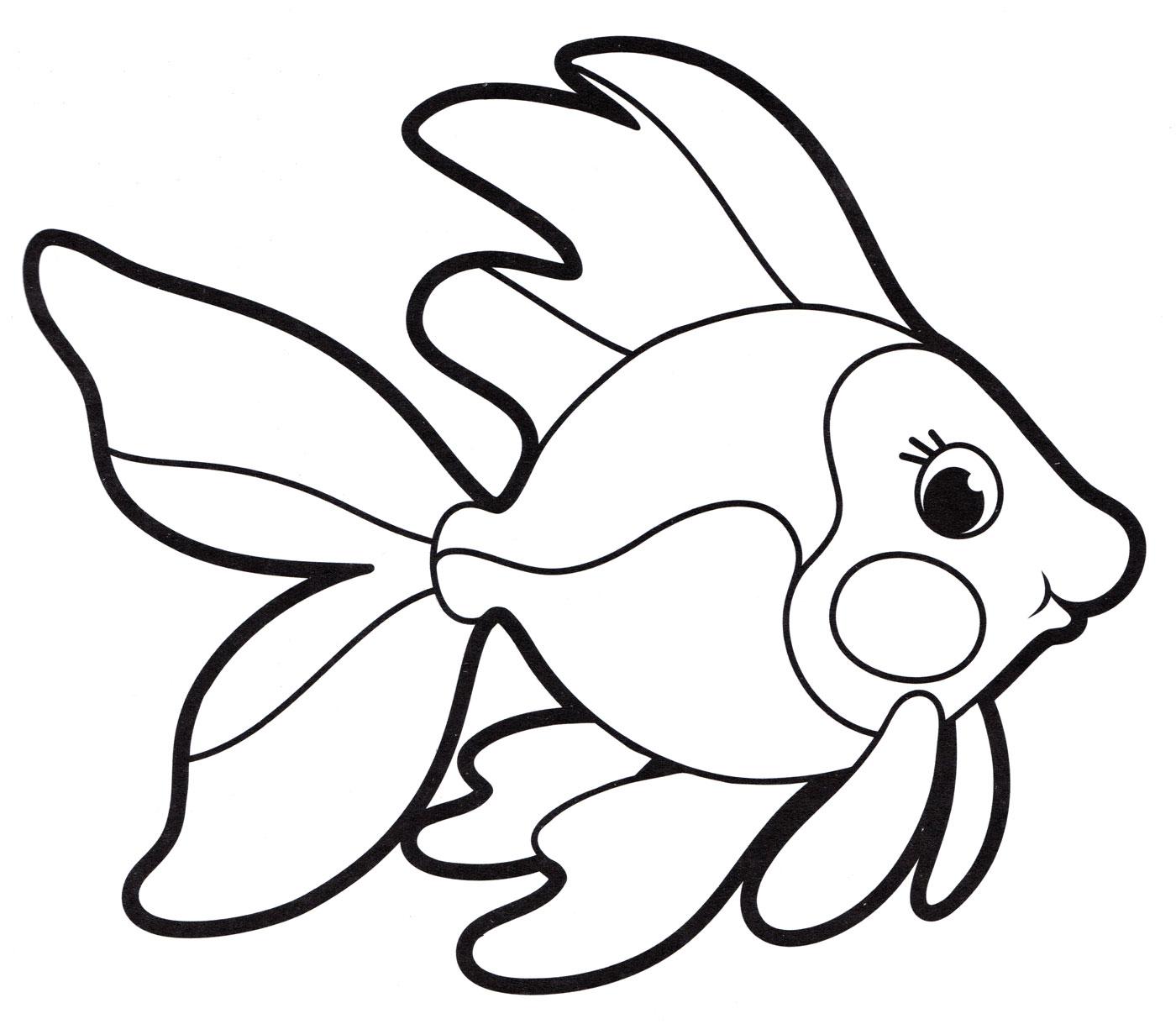 Раскраска Рыбка - распечатать бесплатно